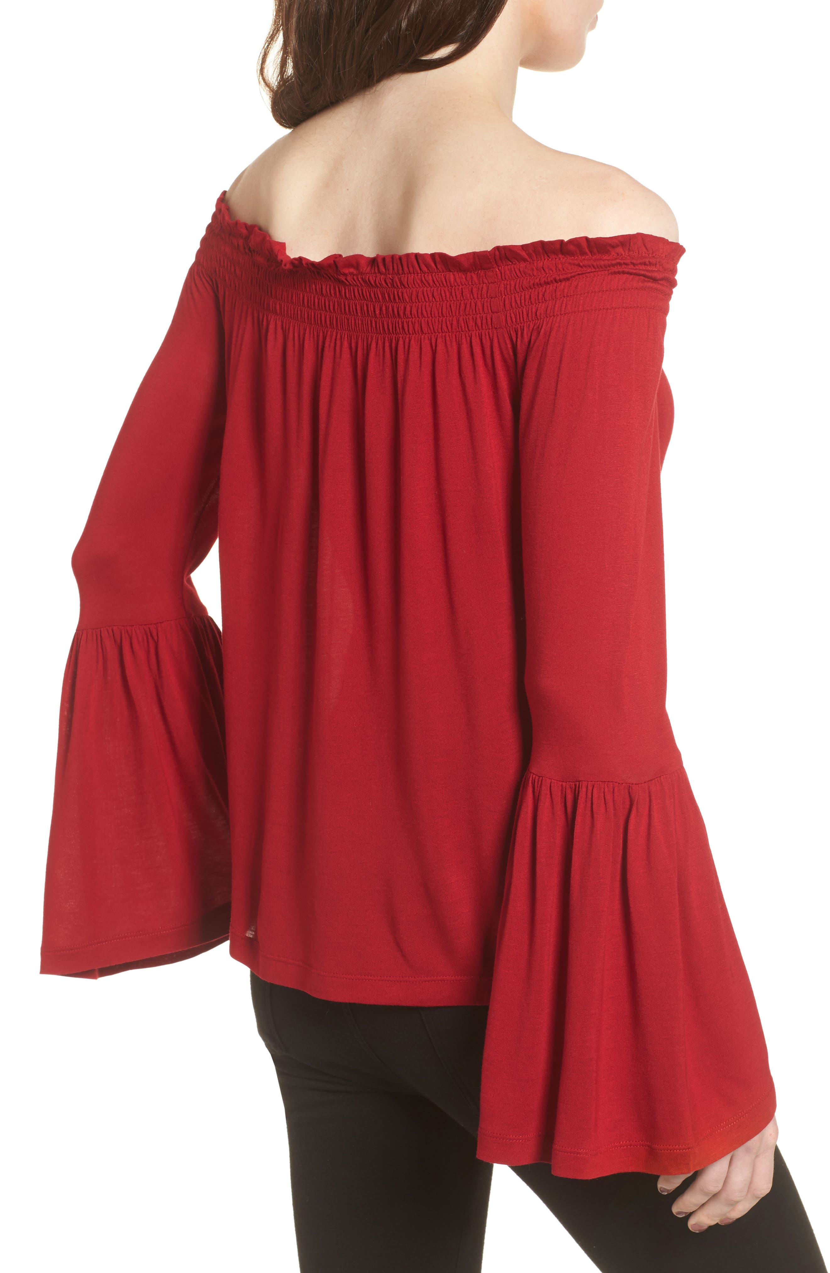 Luck Off the Shoulder Top,                             Alternate thumbnail 2, color,                             643