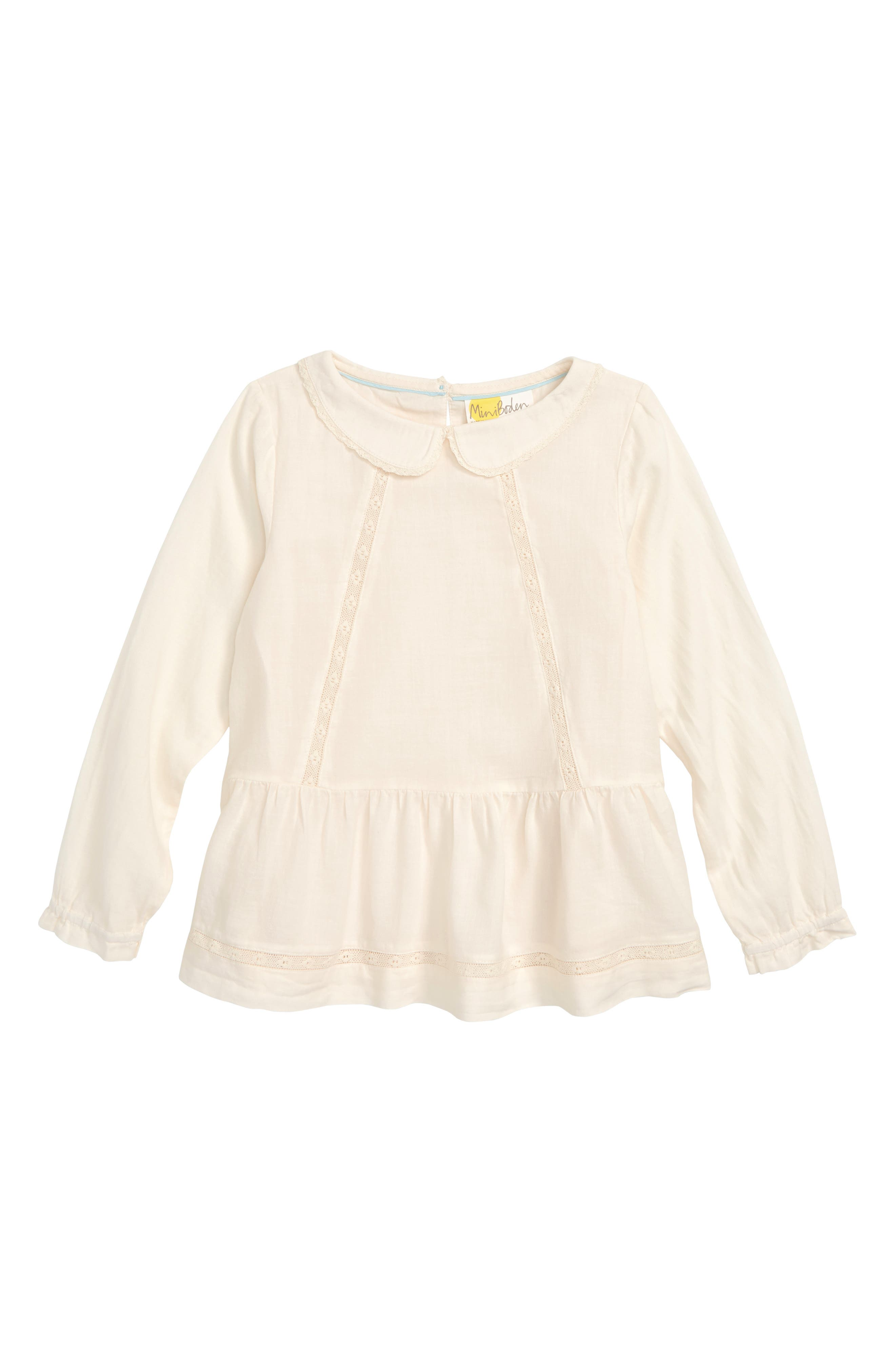 Pretty Detailed Woven Top,                         Main,                         color, CREAM ECRU LACE