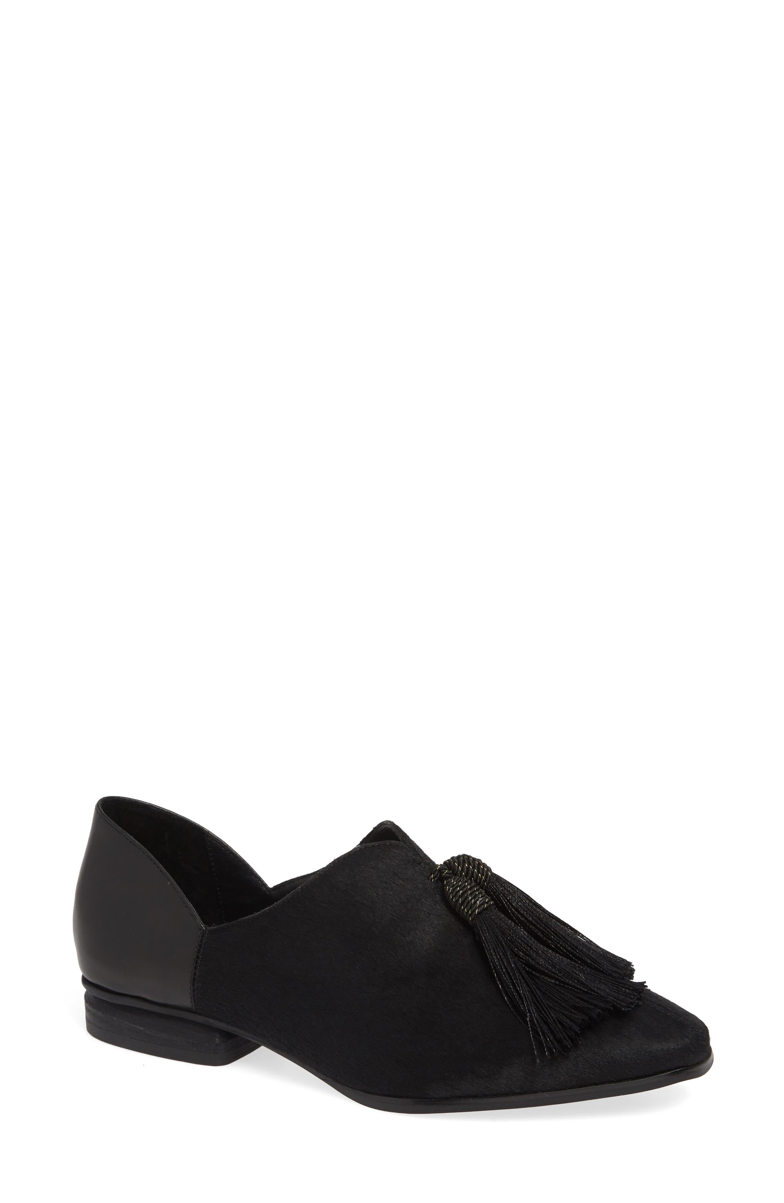 SBICCA Primwood Tassel Loafer, Main, color, BLACK LEATHER