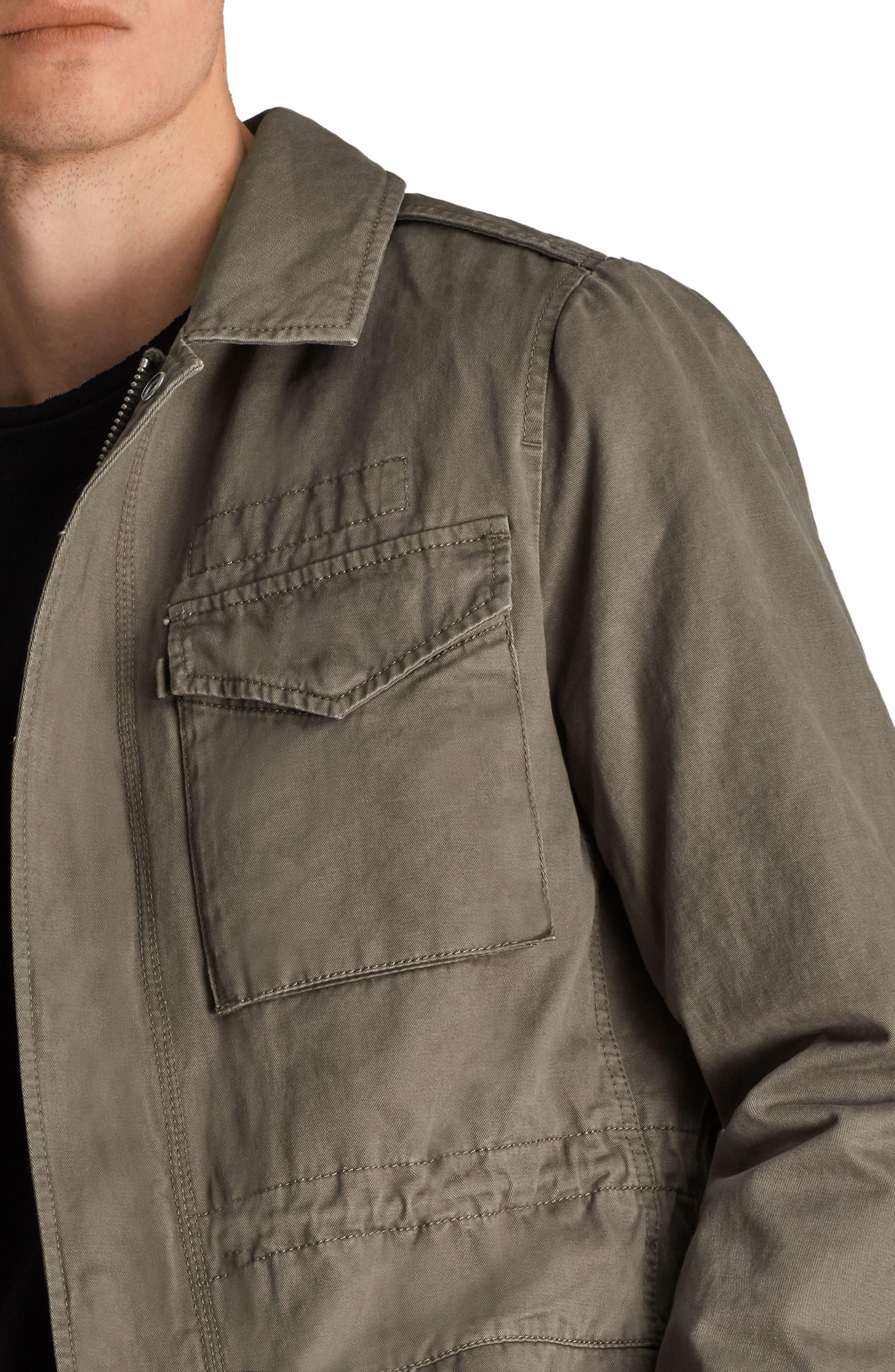 Cote Regular Fit Cotton Jacket,                             Alternate thumbnail 4, color,                             342