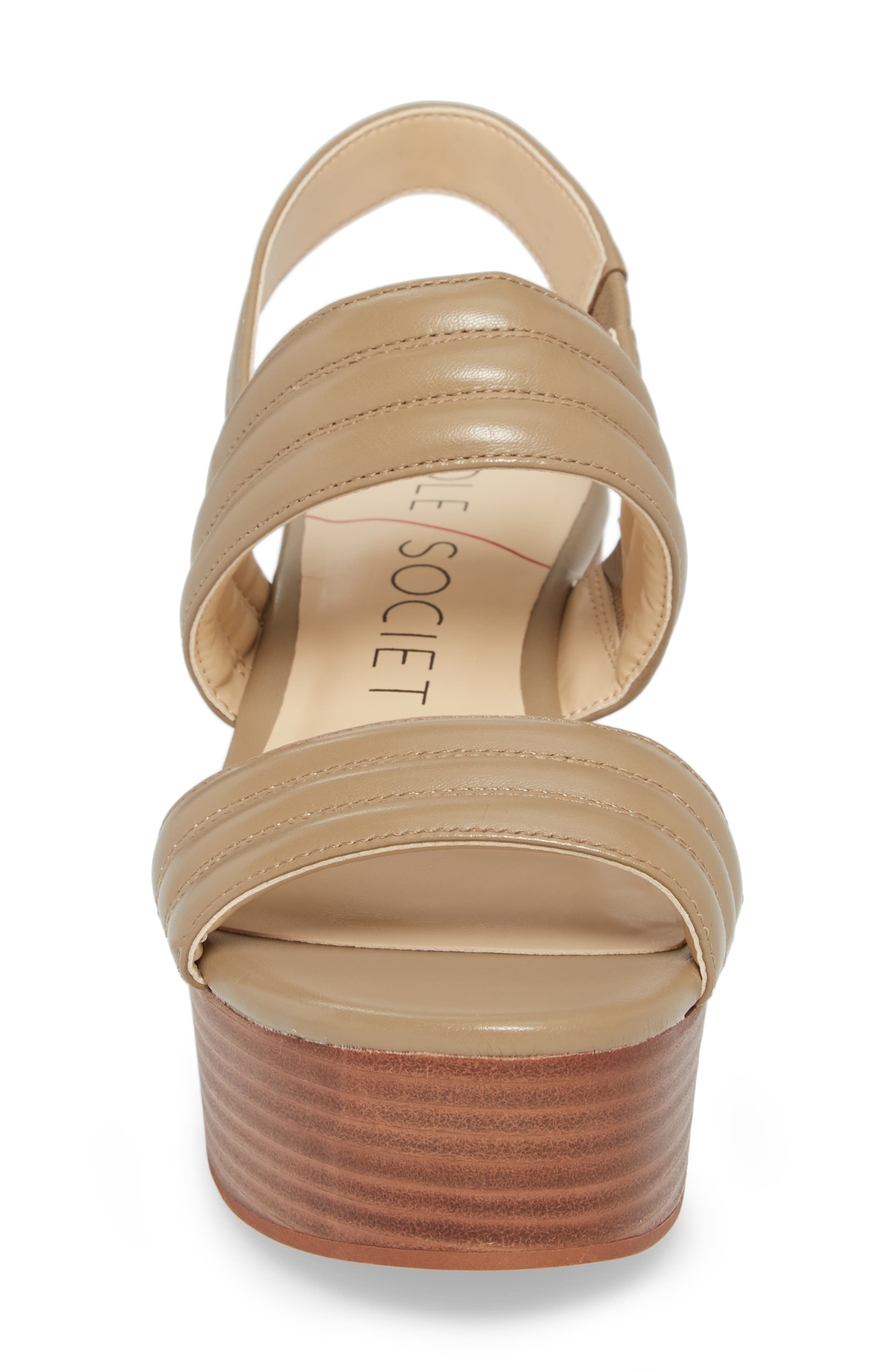 Amberly Platform Sandal,                             Alternate thumbnail 4, color,                             200
