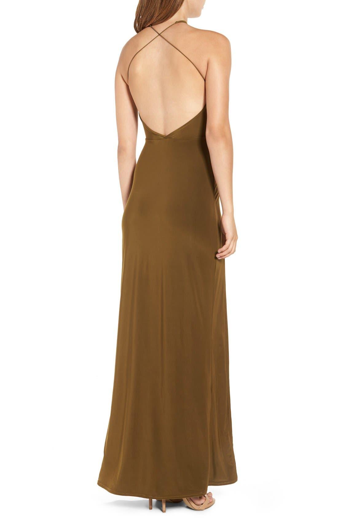 Strappy Back Maxi Dress,                             Alternate thumbnail 4, color,                             291