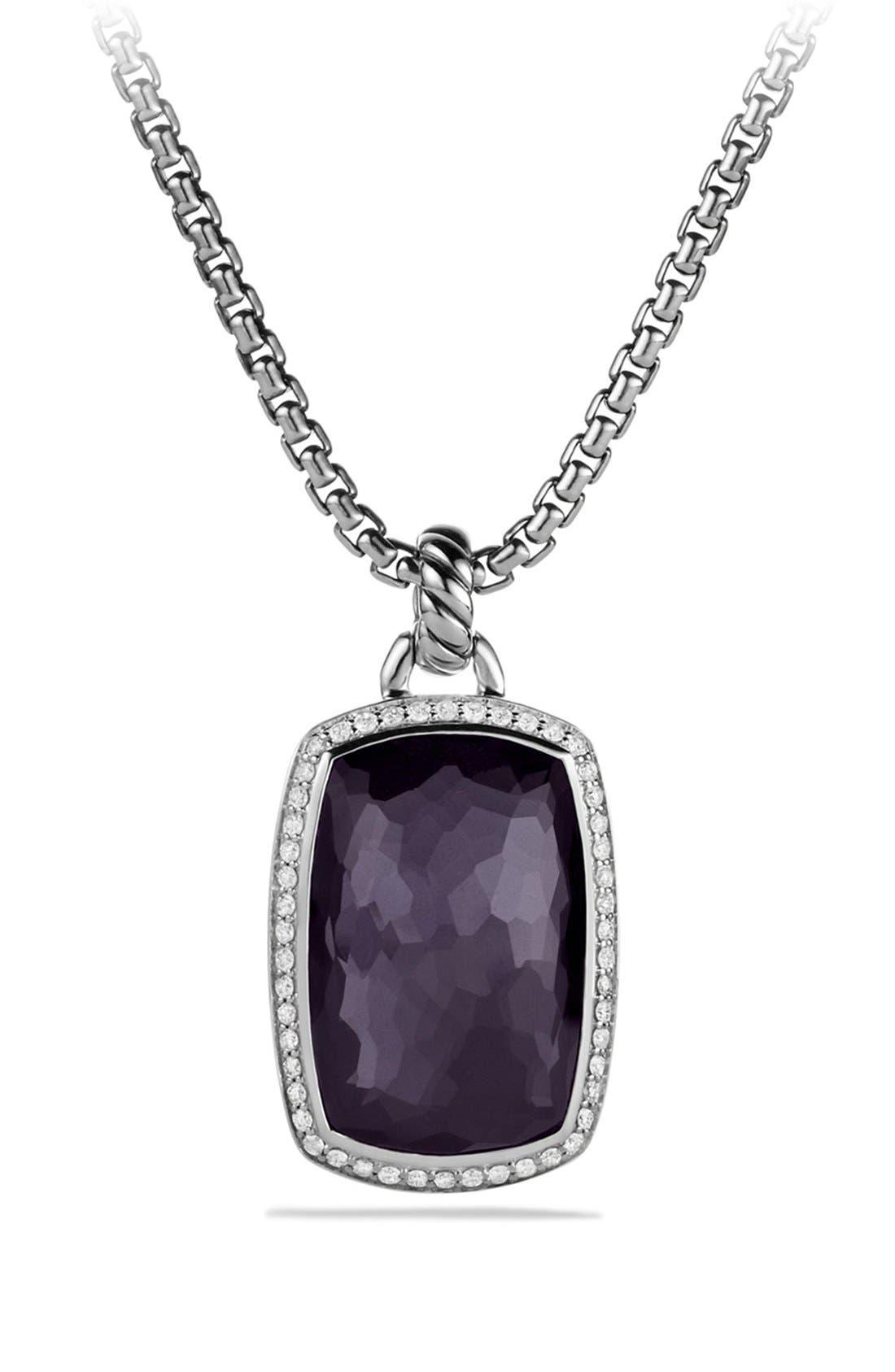 'Albion' Pendant with Semiprecious Stone and Diamonds,                             Main thumbnail 3, color,