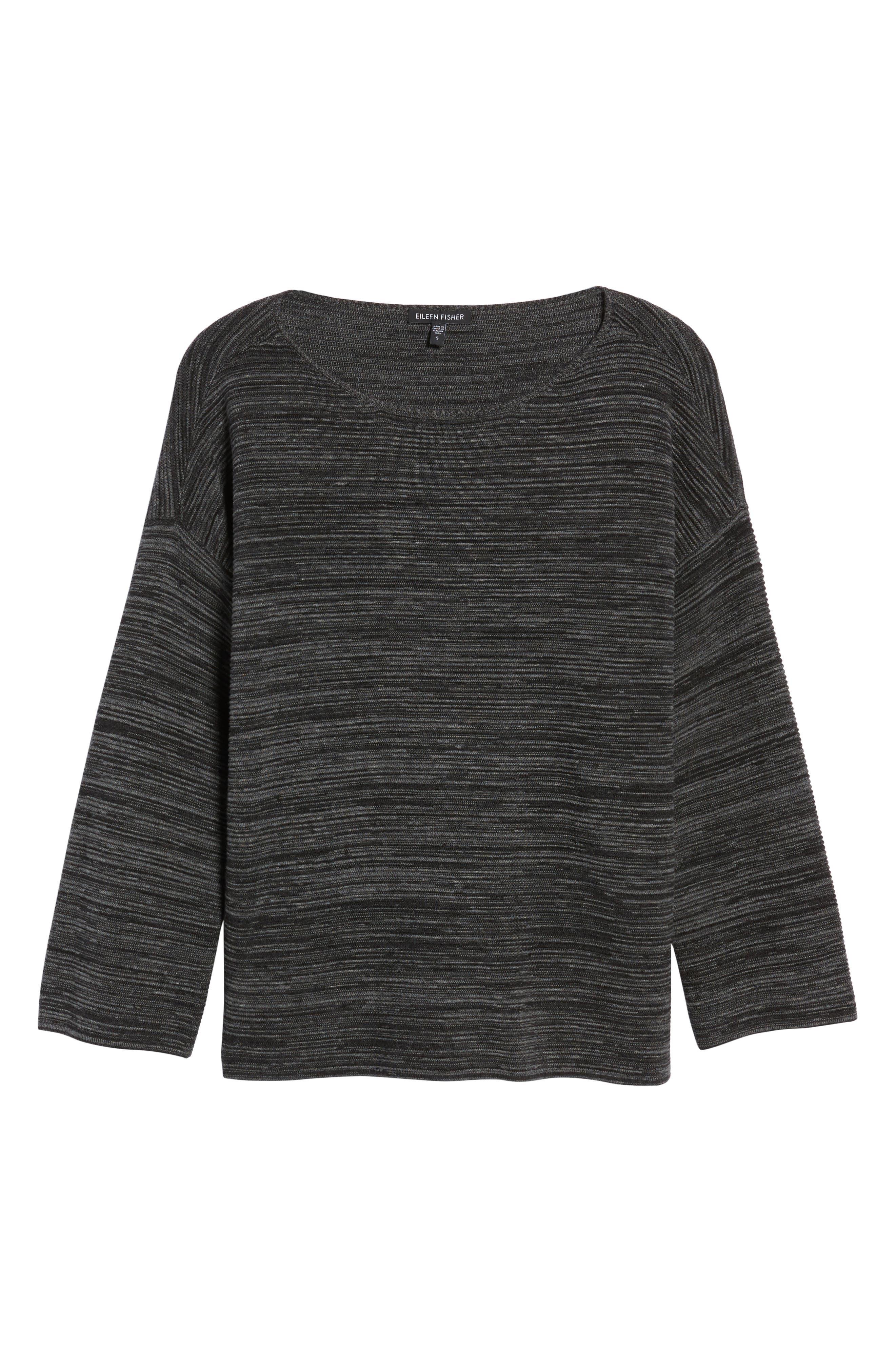 Tencel<sup>®</sup> & Organic Cotton Sweater,                             Alternate thumbnail 6, color,                             001