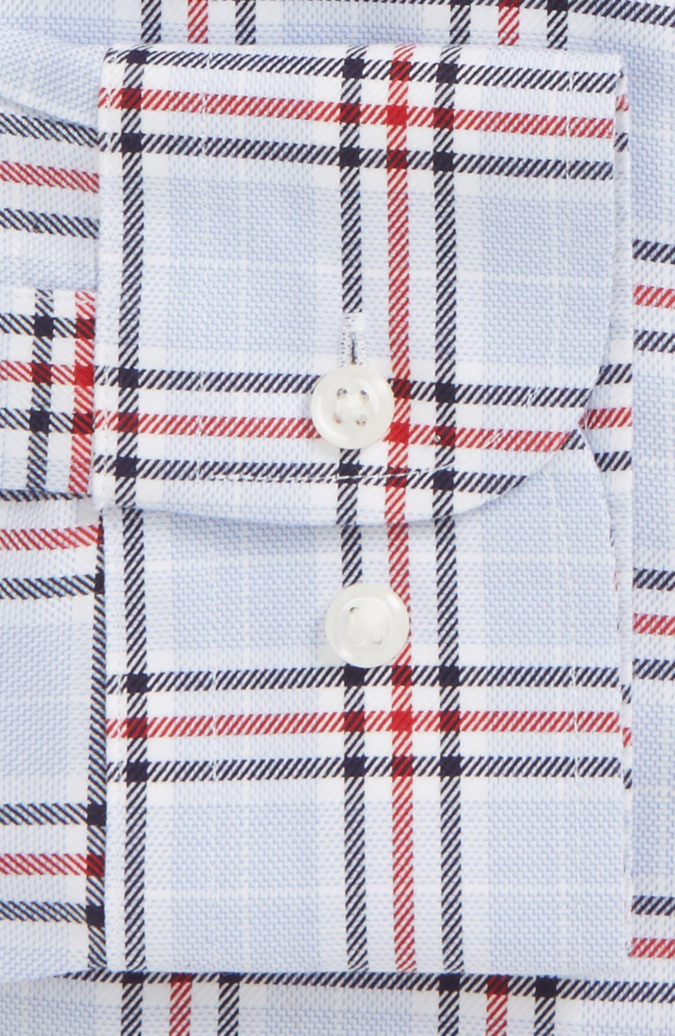 Smartcare<sup>™</sup> Trim Fit Plaid Dress Shirt,                             Alternate thumbnail 6, color,