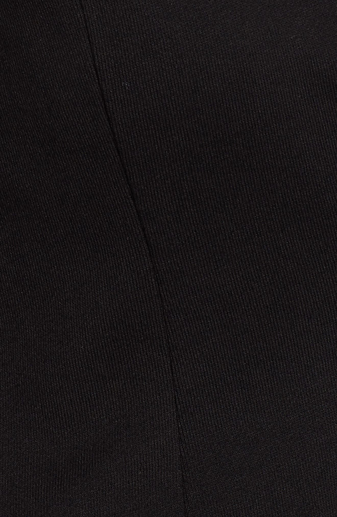 Notch Collar Cotton Blend Blazer,                             Alternate thumbnail 8, color,                             BLACK