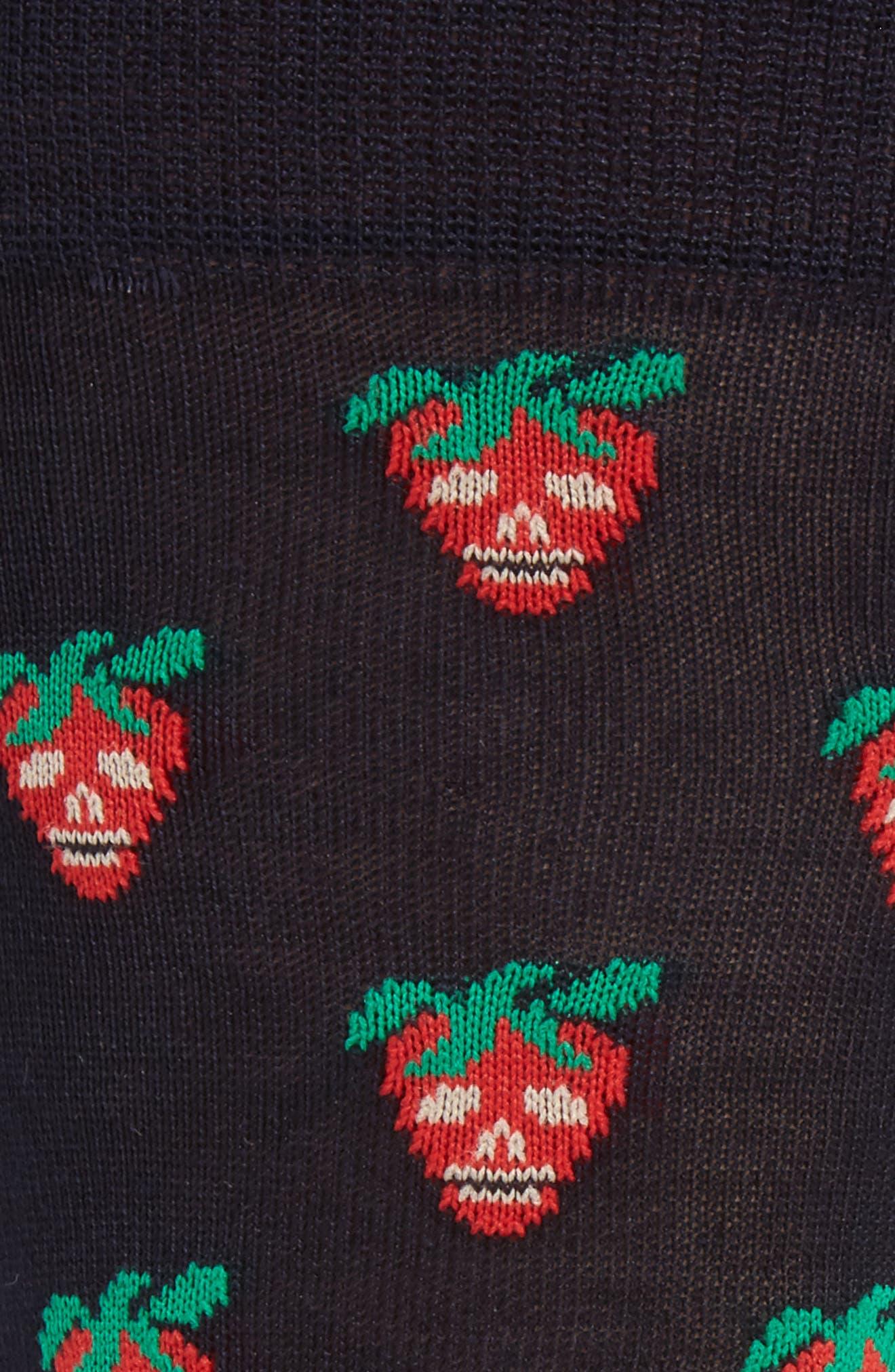 Mini Strawberry Crew Socks,                             Alternate thumbnail 2, color,                             411
