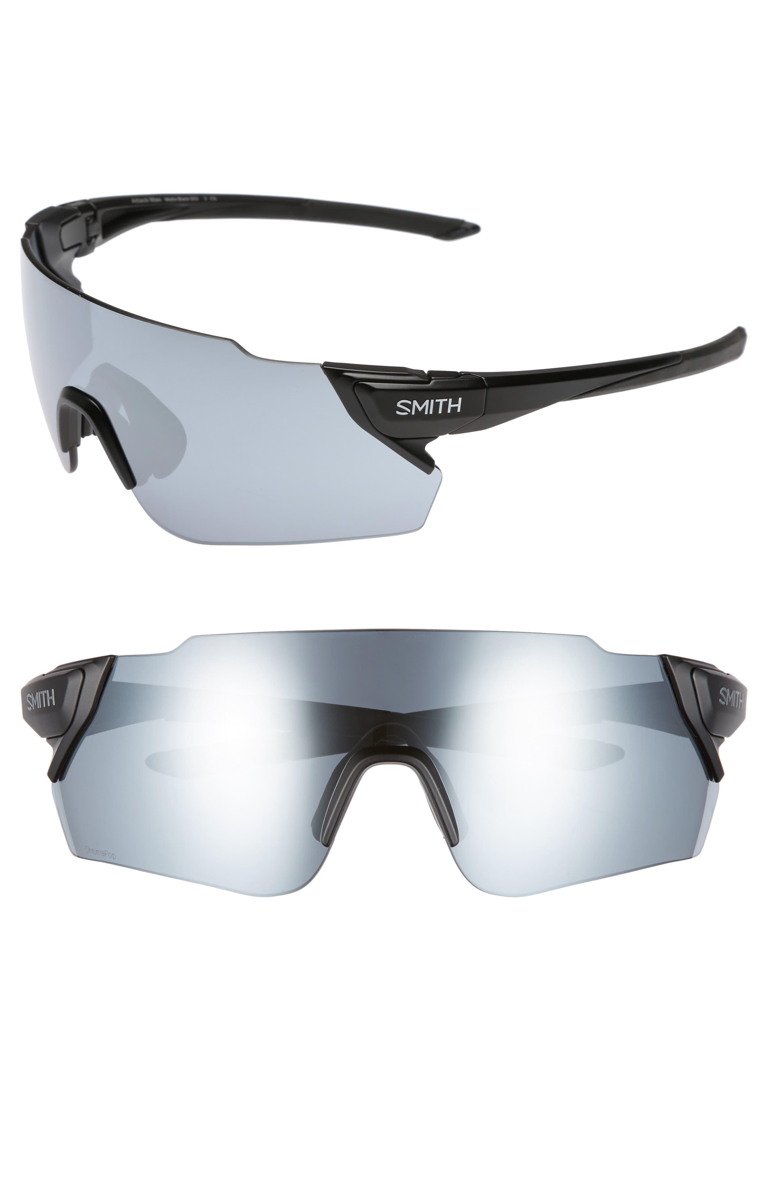 Attack Max 125mm ChromaPop<sup>™</sup> Polarized Shield Sunglasses,                             Main thumbnail 1, color,                             002