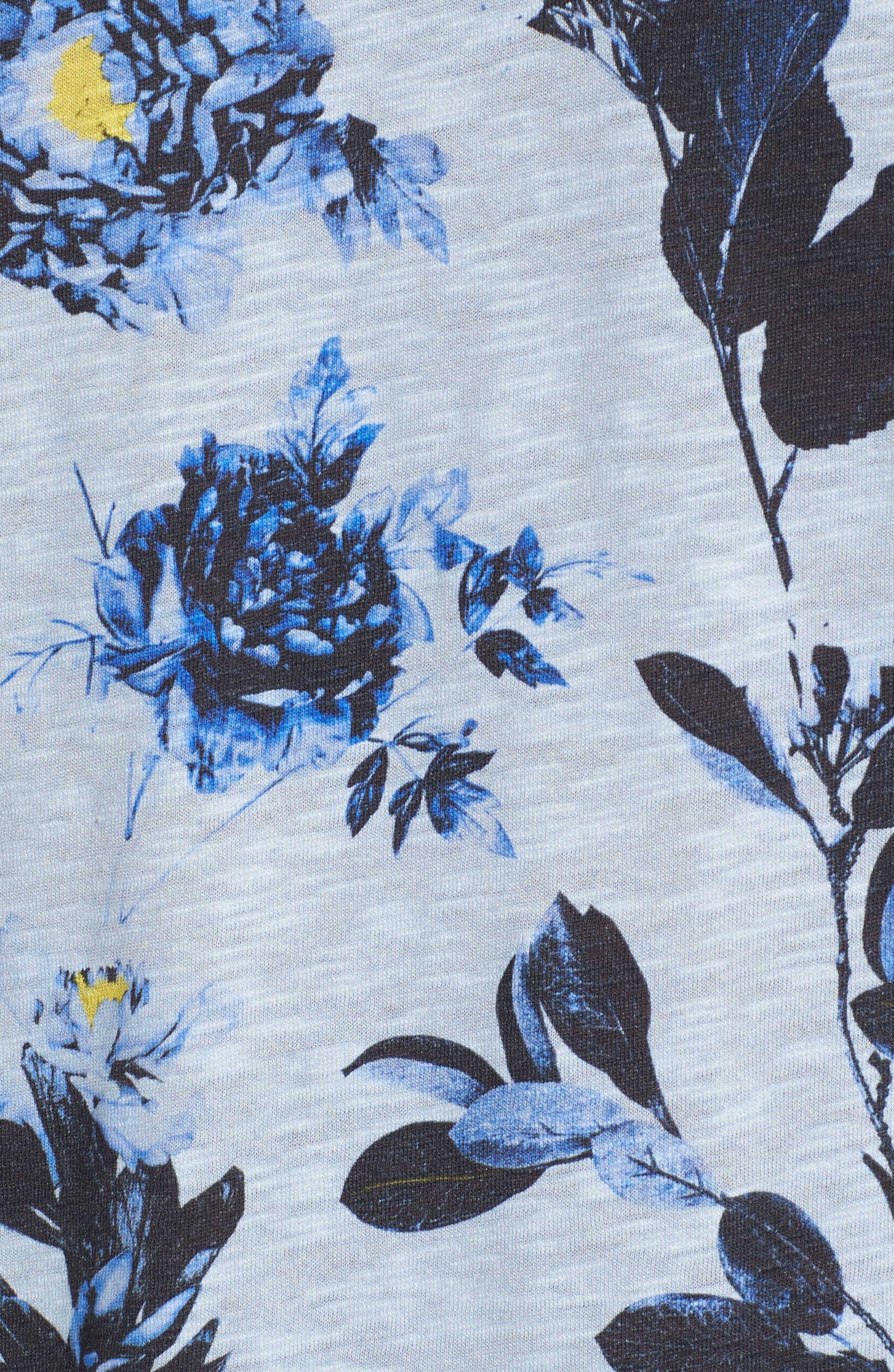 Doberma Trim Fit Floral Print T-Shirt,                             Alternate thumbnail 10, color,