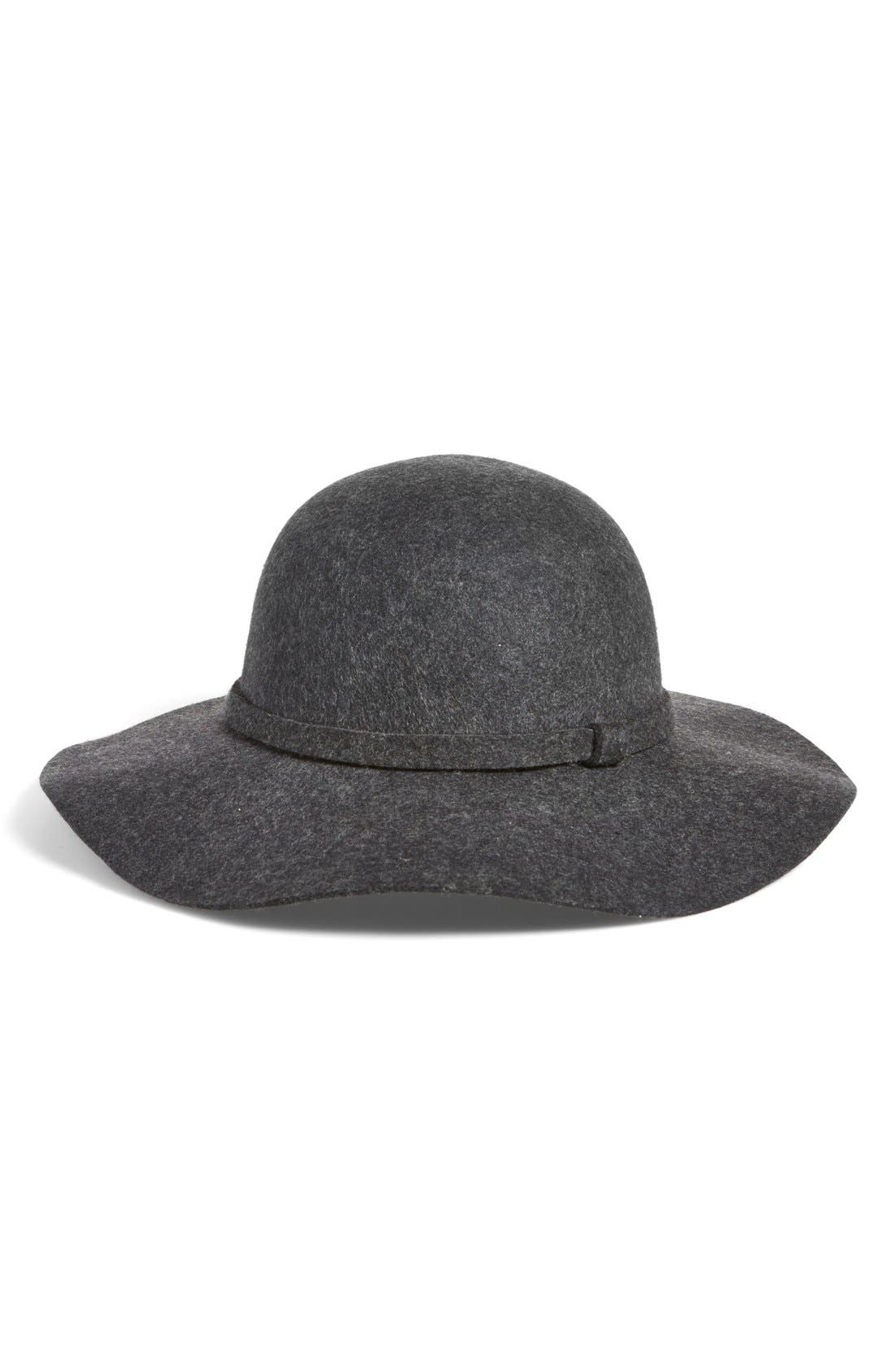 Floppy Wool Hat,                             Alternate thumbnail 2, color,                             001