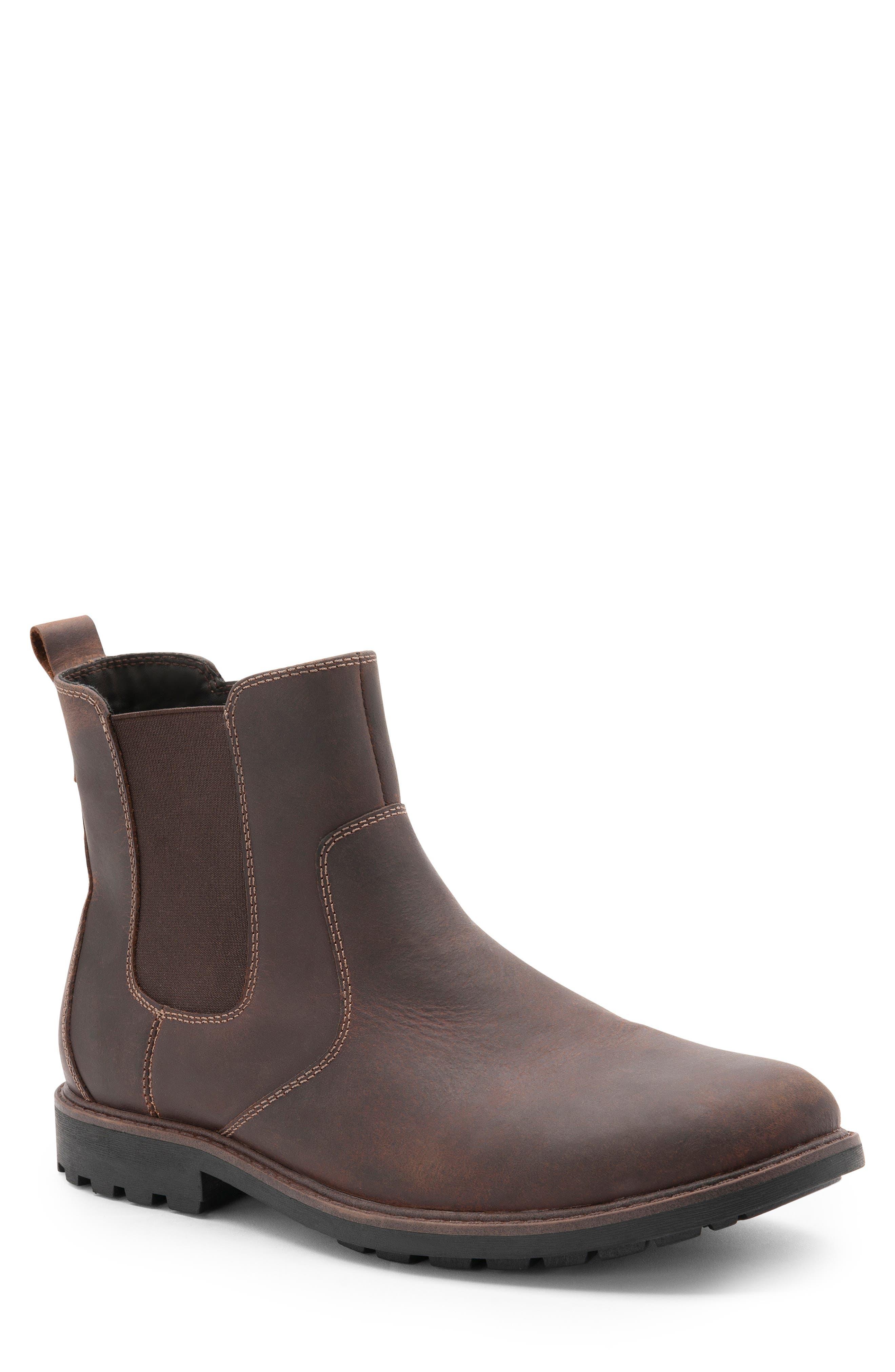 Blondo Shadow Waterproof Chelsea Boot- Brown
