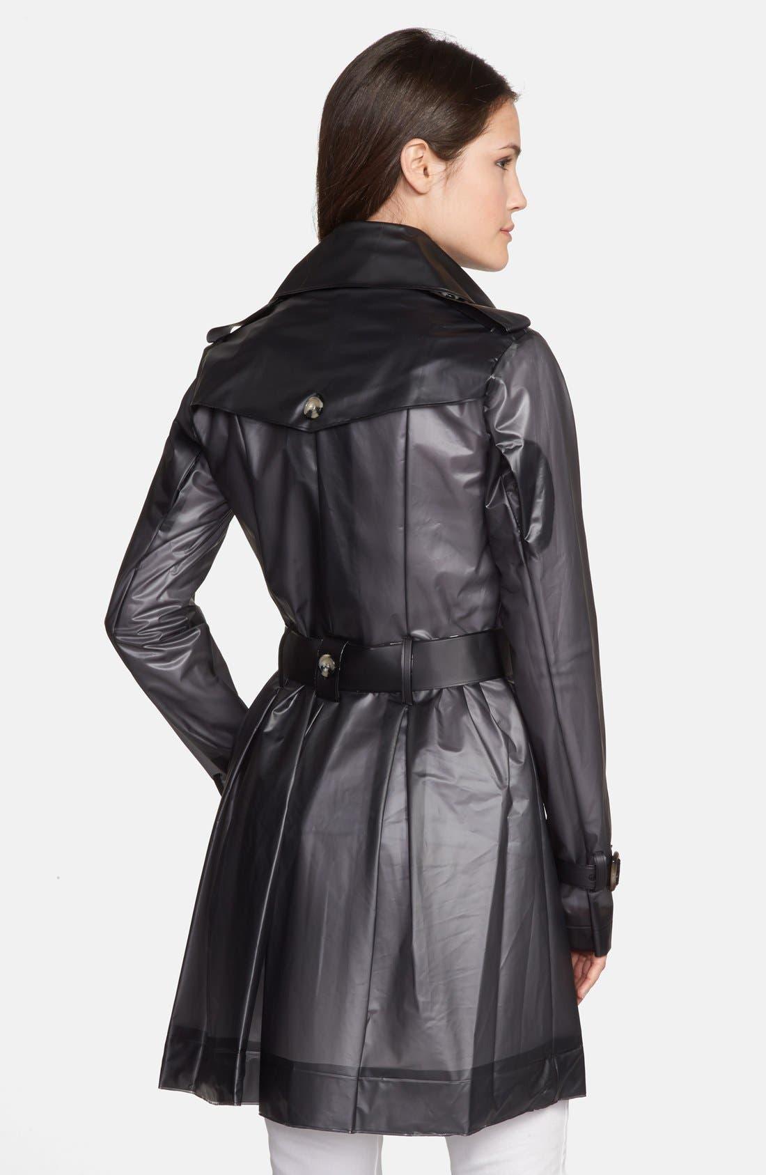 TERRA NEW YORK,                             Waterproof Translucent Trench Coat,                             Alternate thumbnail 2, color,                             001