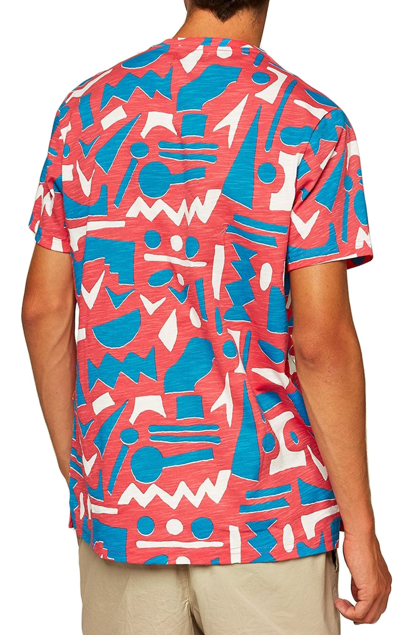 Geo Print T-Shirt,                             Alternate thumbnail 2, color,                             650