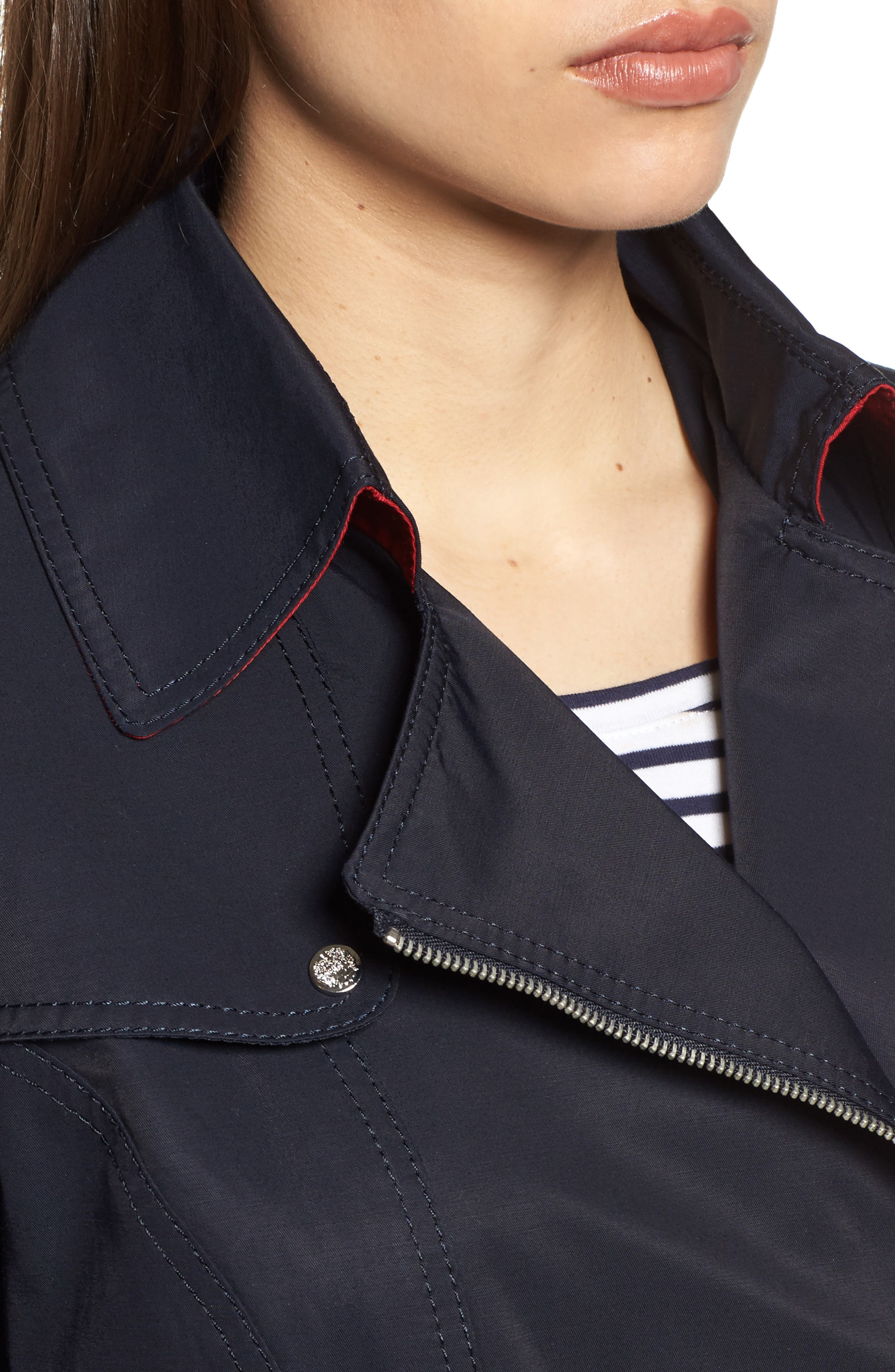 Belted Asymmetrical Trench Coat,                             Alternate thumbnail 12, color,