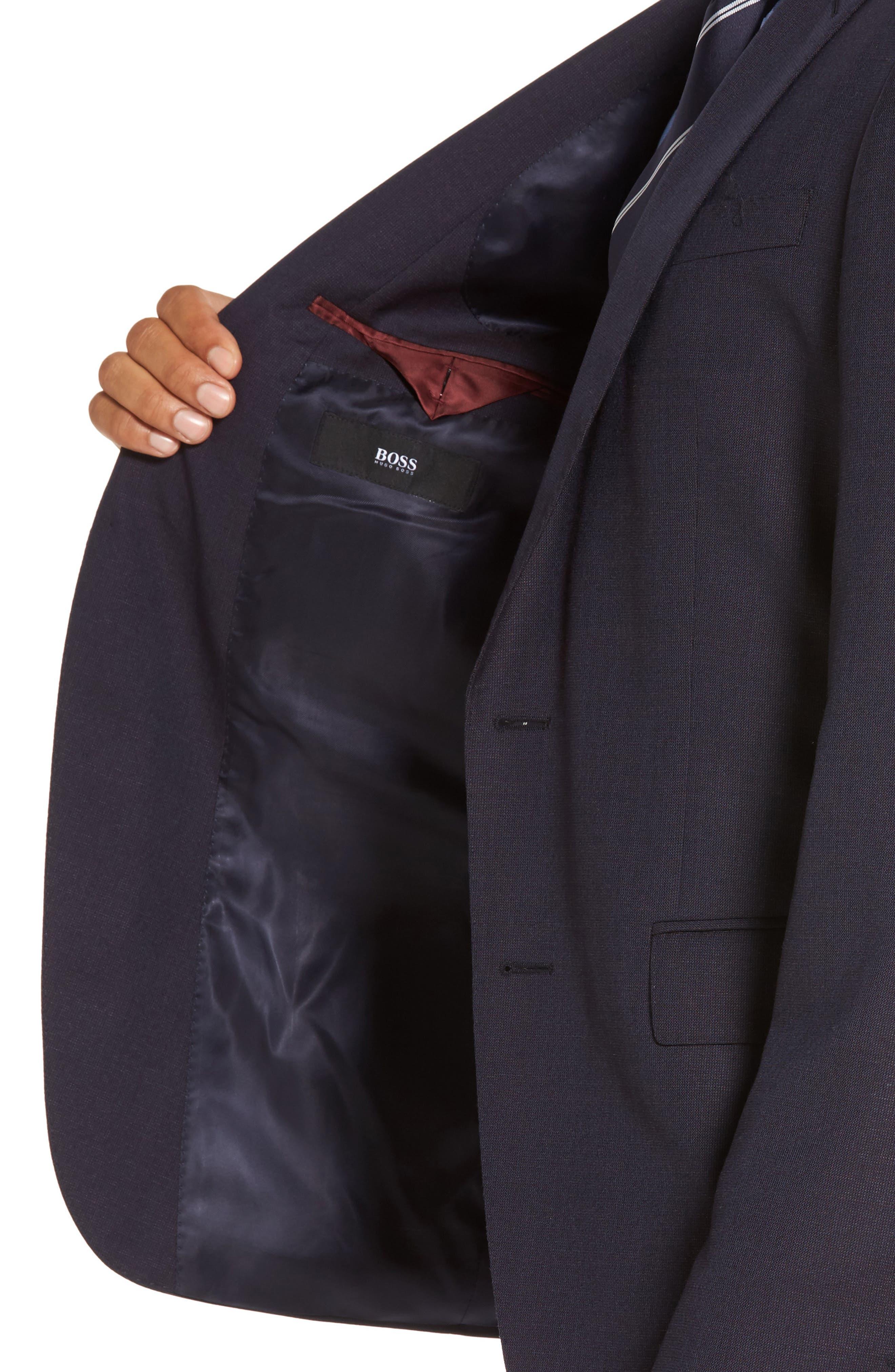 Huge/Genius Trim Fit Wool Suit,                             Alternate thumbnail 4, color,                             606