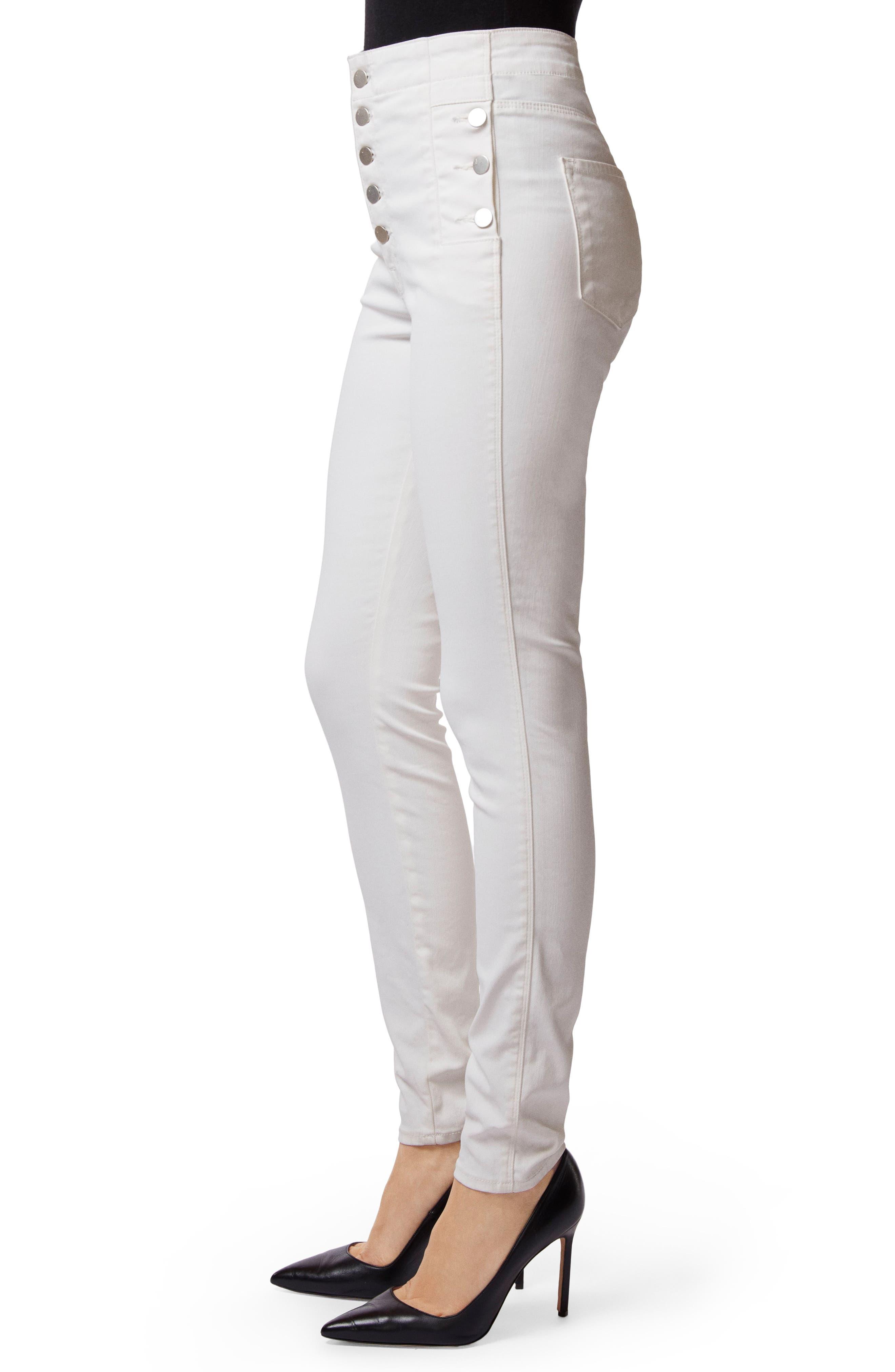 Natasha Sky High Coated Super Skinny Jeans,                             Alternate thumbnail 3, color,                             105