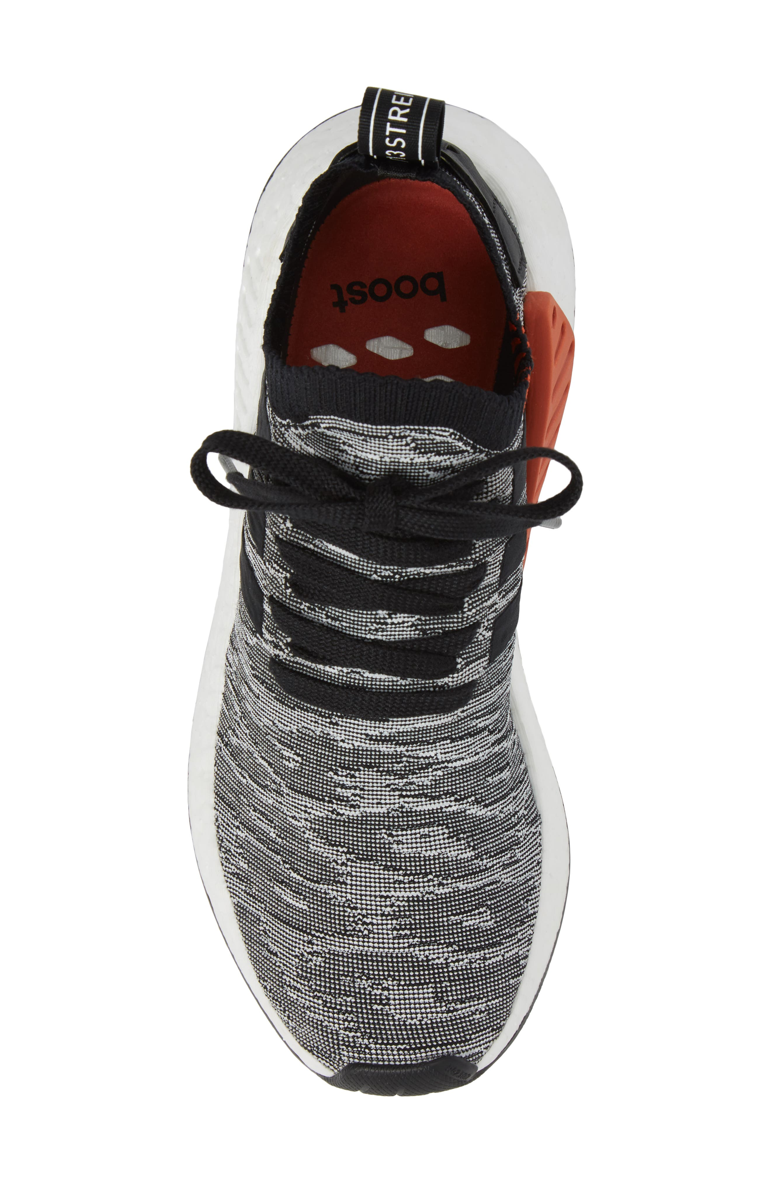 NMD R2 Primeknit Running Shoe,                             Alternate thumbnail 5, color,                             002