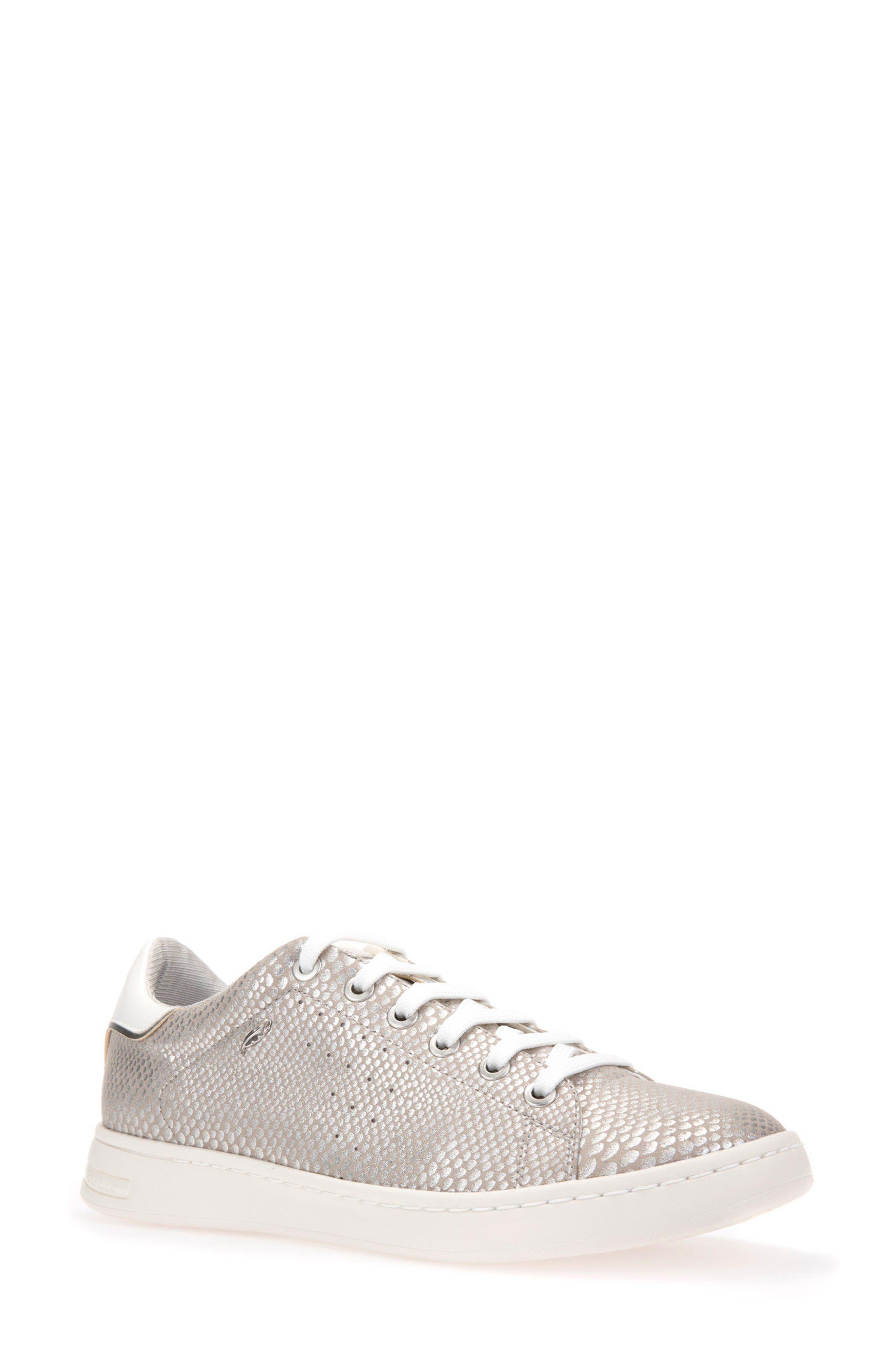 Jaysen Sneaker,                         Main,                         color, SILVER FABRIC