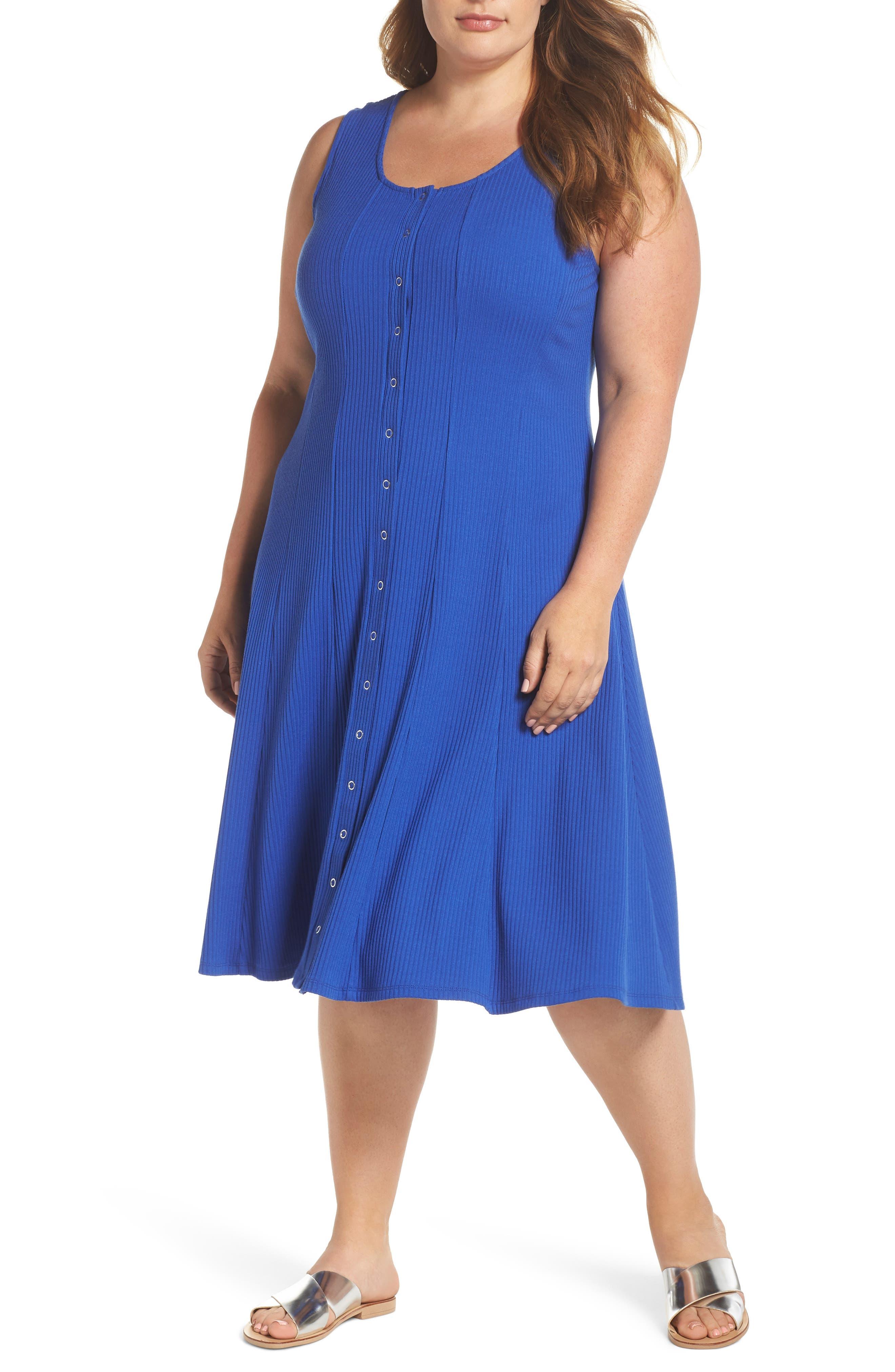Rib Tank Dress,                         Main,                         color, 424