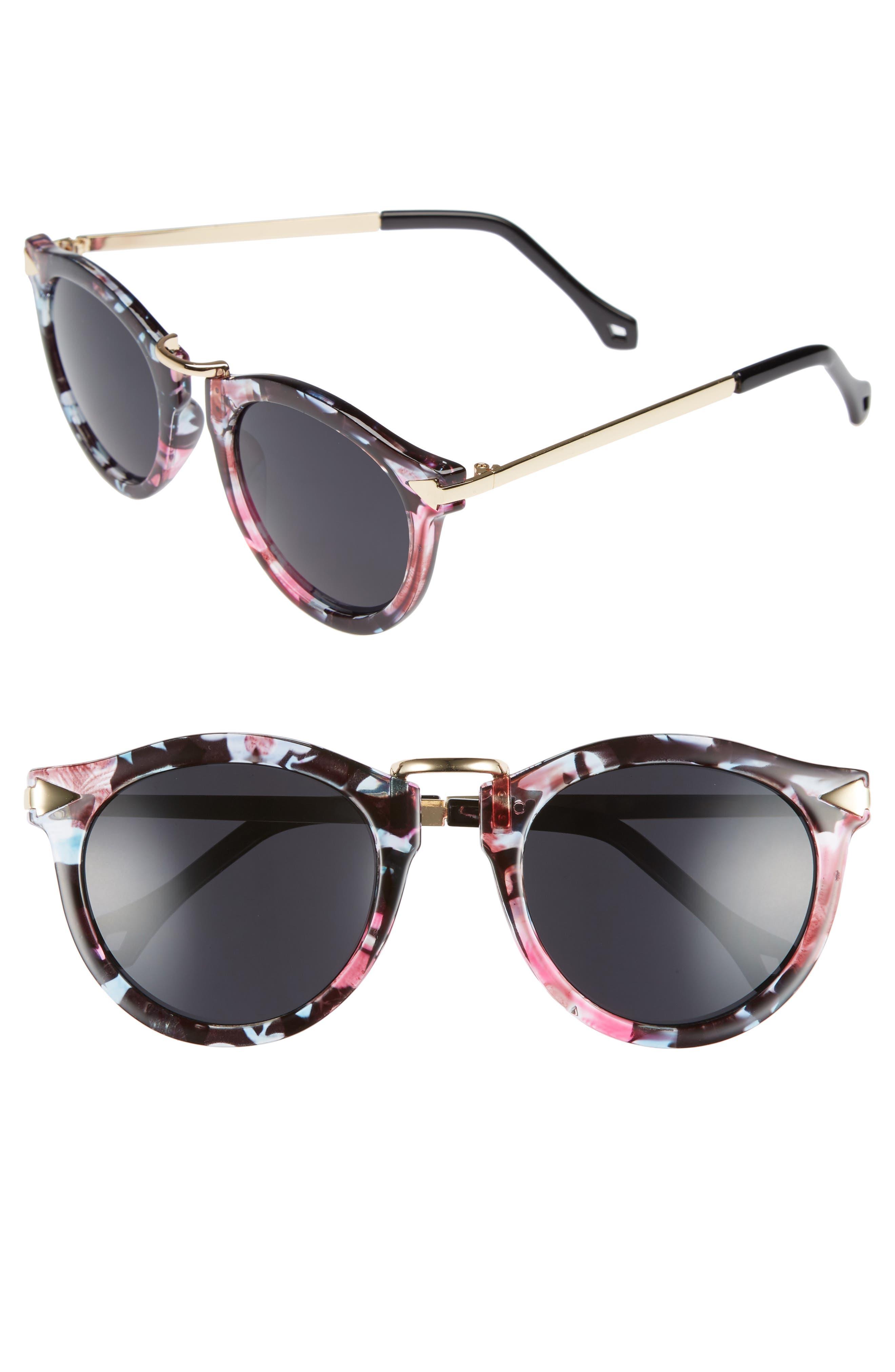 51mm Wing Detail Sunglasses,                             Main thumbnail 1, color,