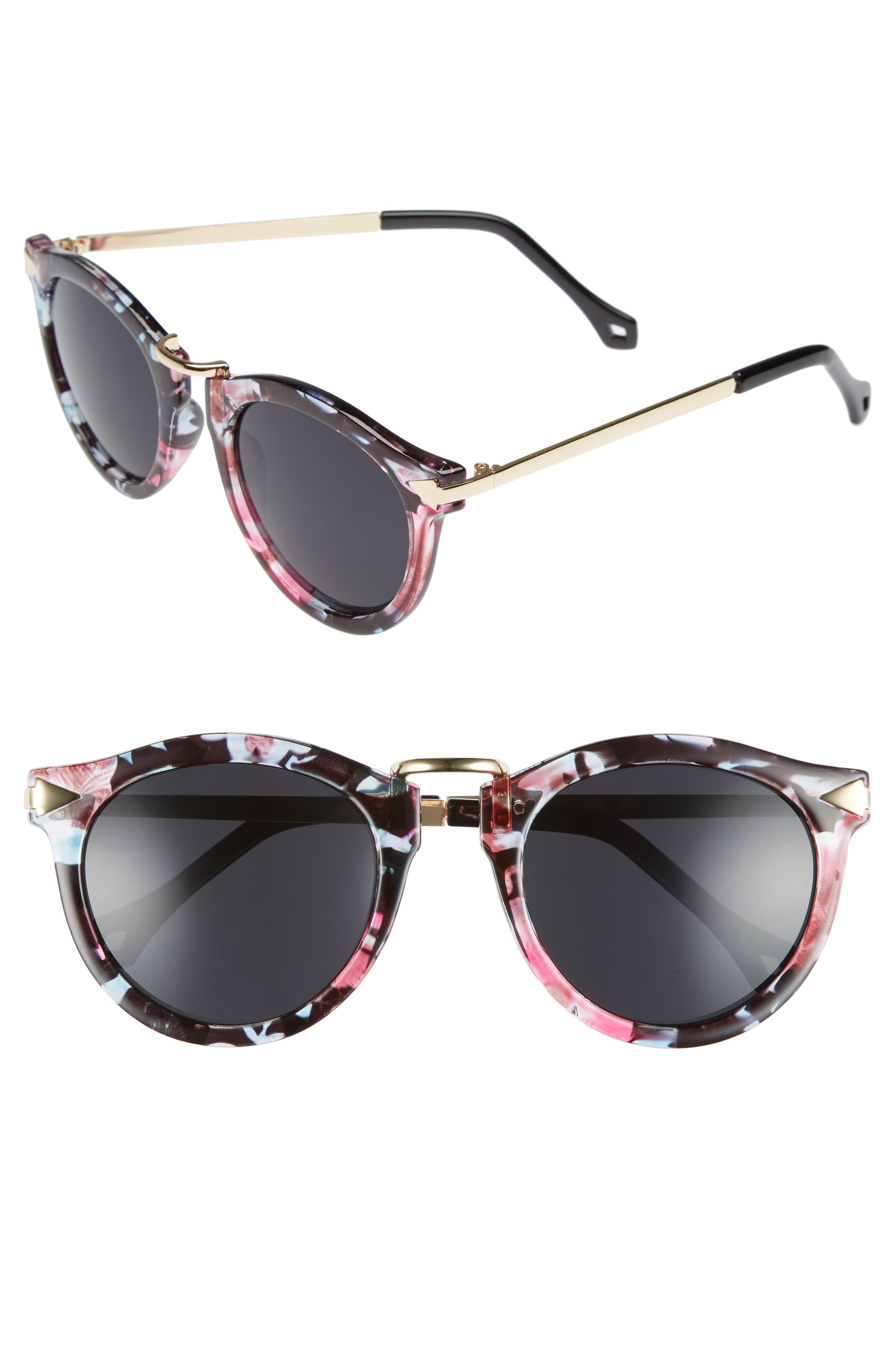 51mm Wing Detail Sunglasses,                         Main,                         color,