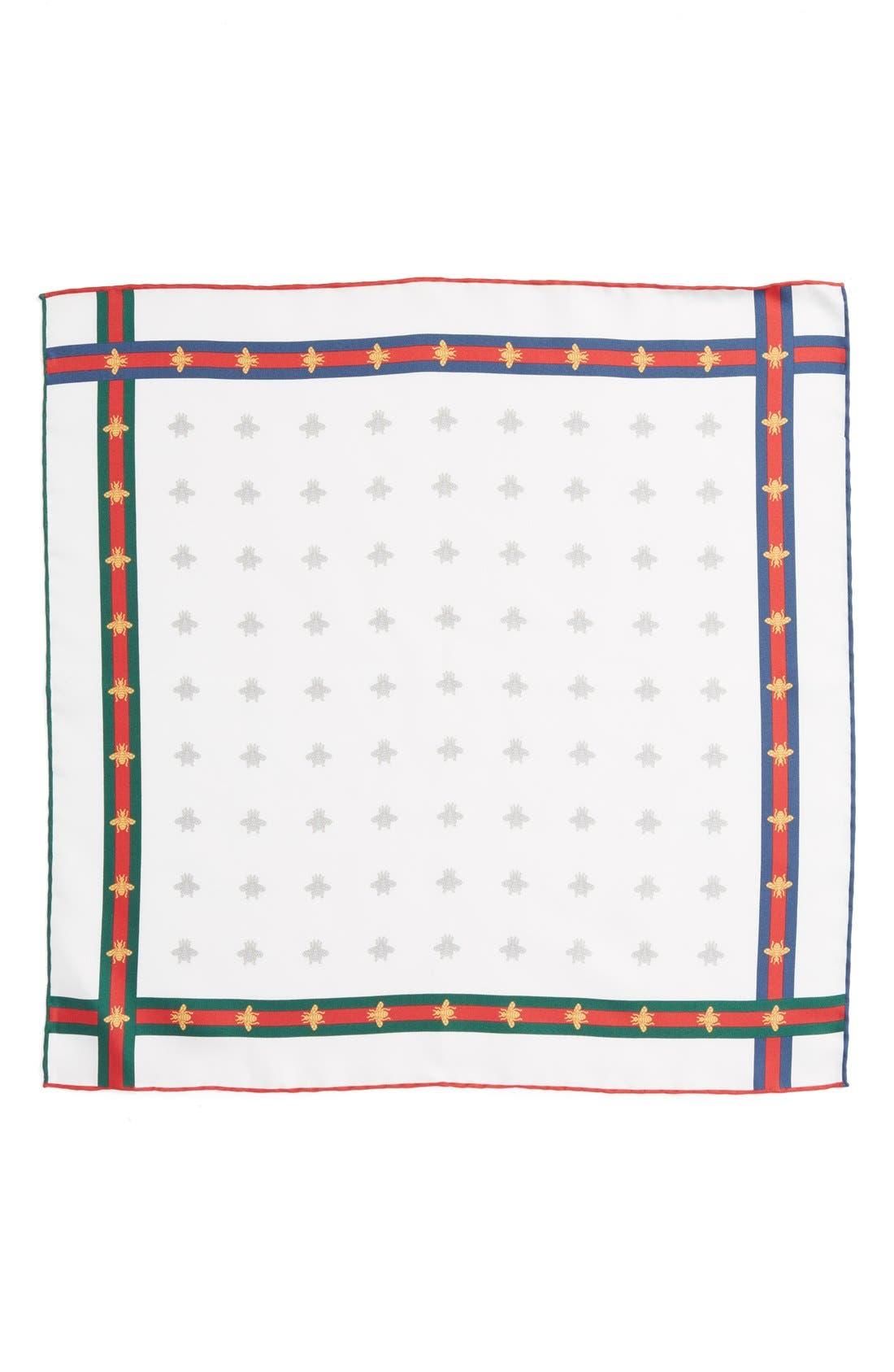 Runebis Silk Twill Pocket Square,                             Alternate thumbnail 18, color,