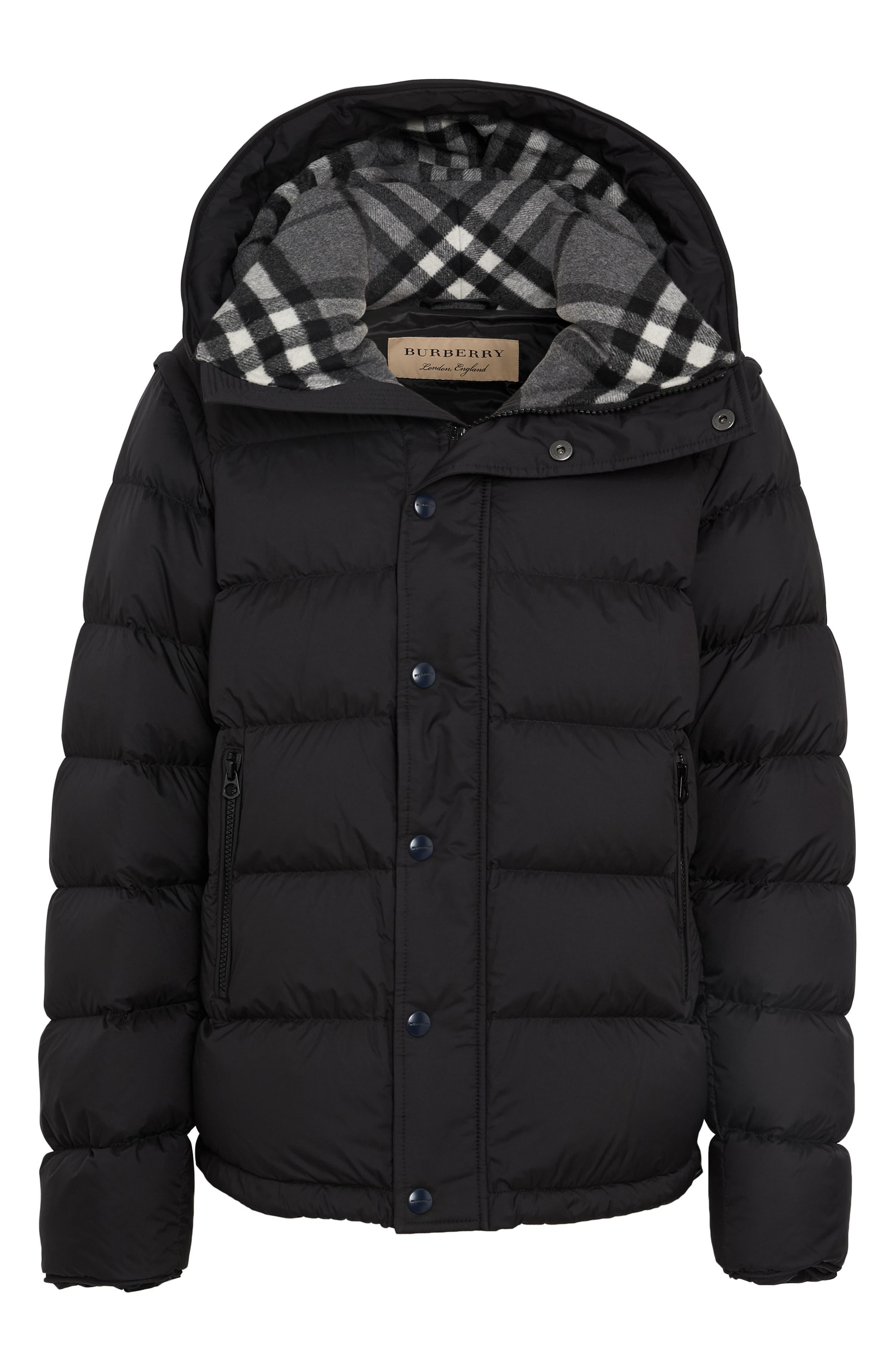 Hartley Hybrid Jacket with Detachable Sleeves,                             Alternate thumbnail 5, color,                             001