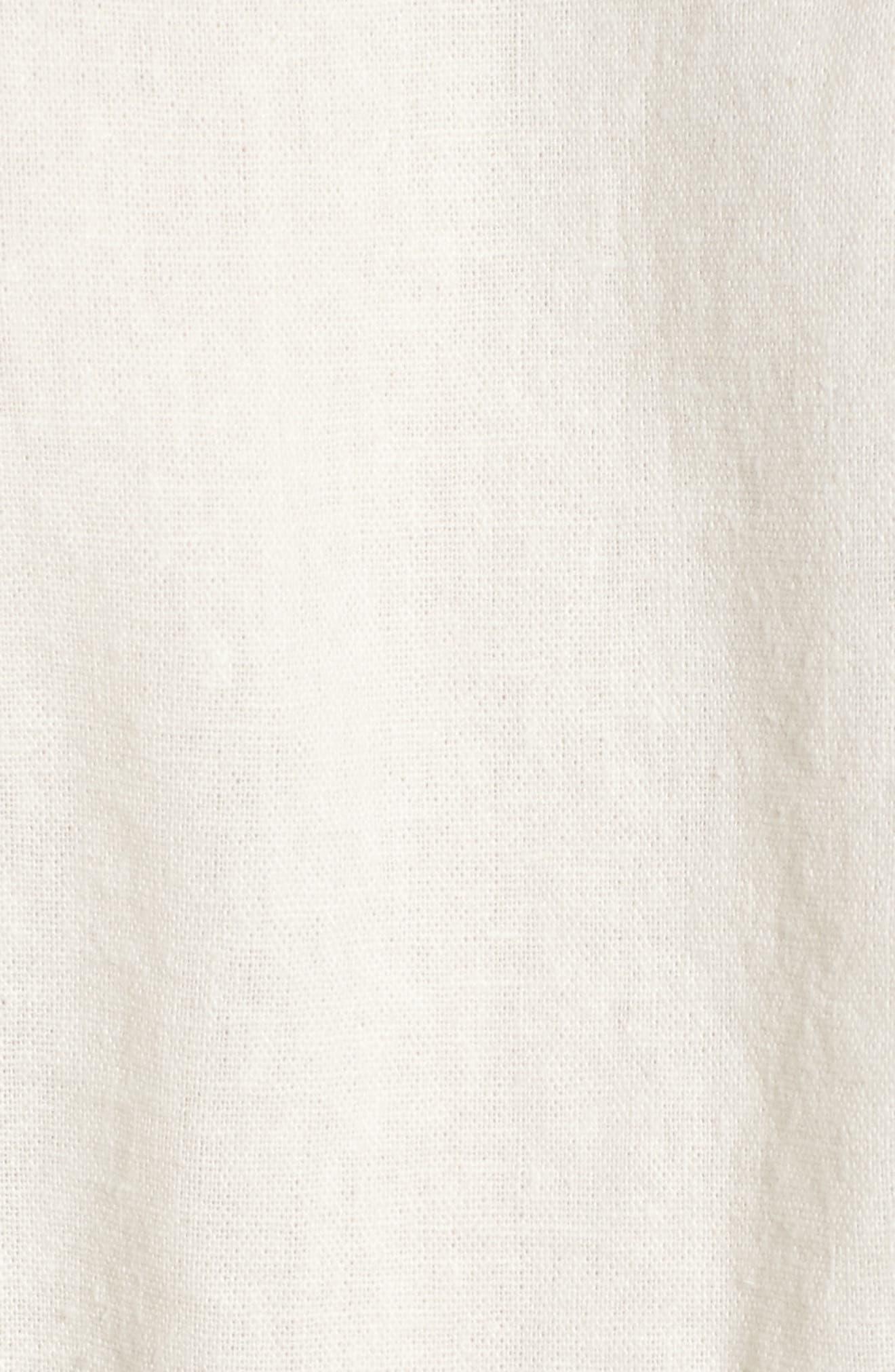 Tie Front Linen Blend Tank Top,                             Alternate thumbnail 15, color,