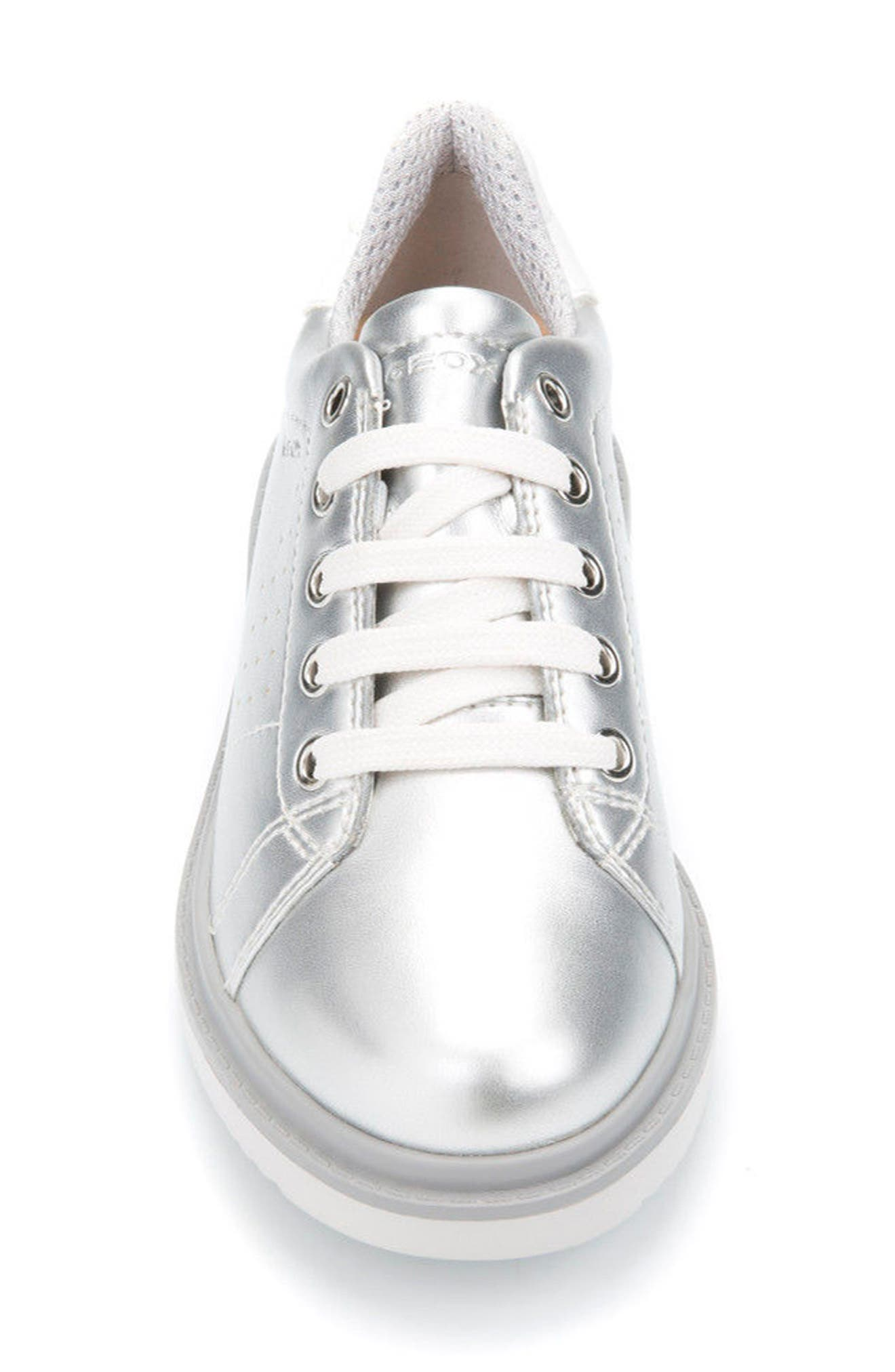Thymar Low Top Sneaker,                             Alternate thumbnail 4, color,                             SILVER