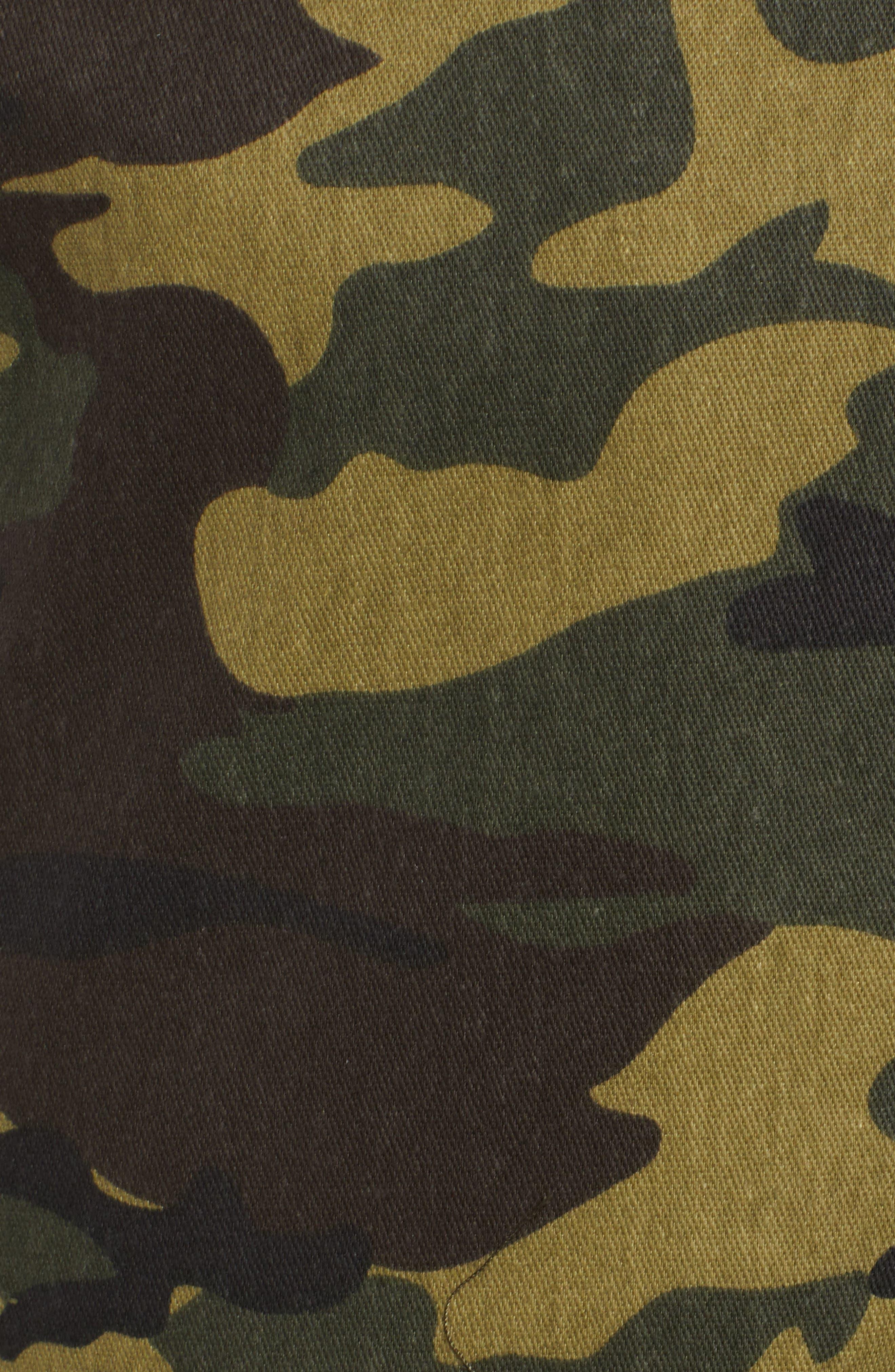 Keegan High Waist Straight Leg Pants,                             Alternate thumbnail 6, color,                             GREEN CAMO
