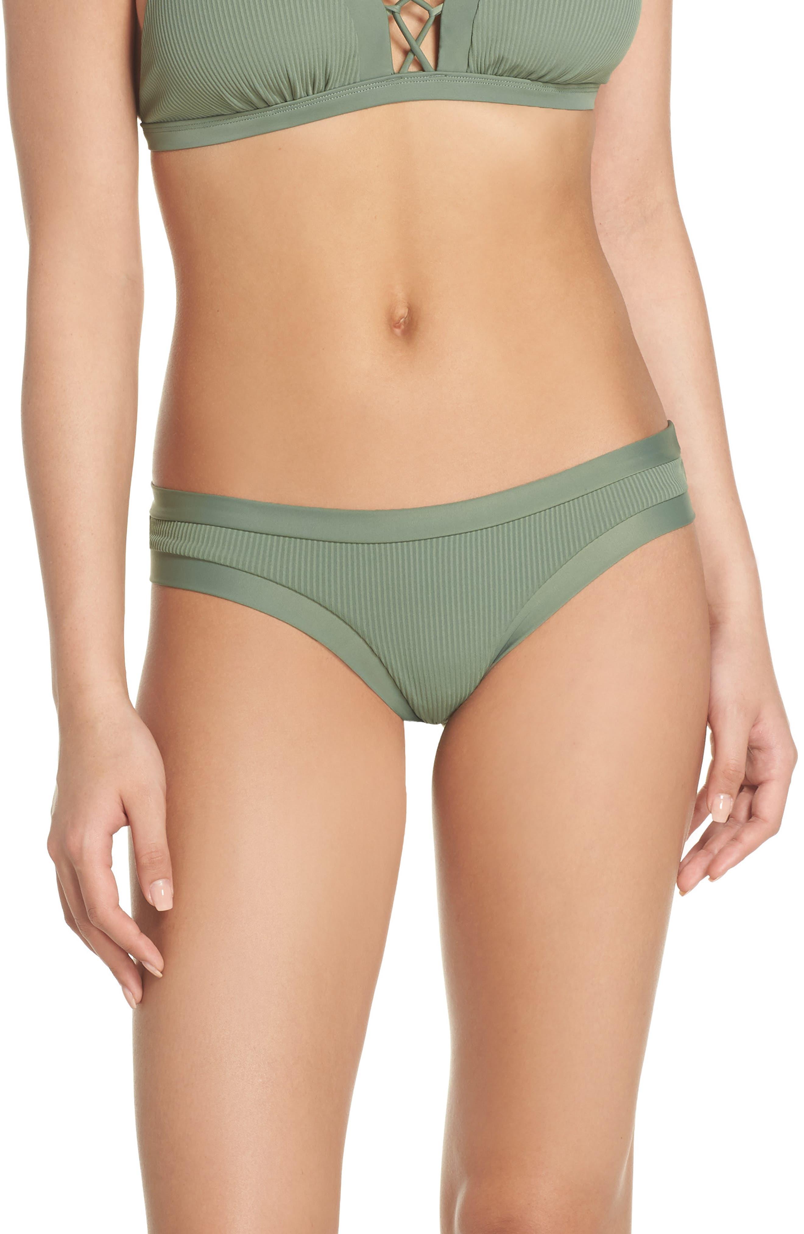 Ibiza Audrey Hipster Bikini Bottoms,                         Main,                         color, CACTUS