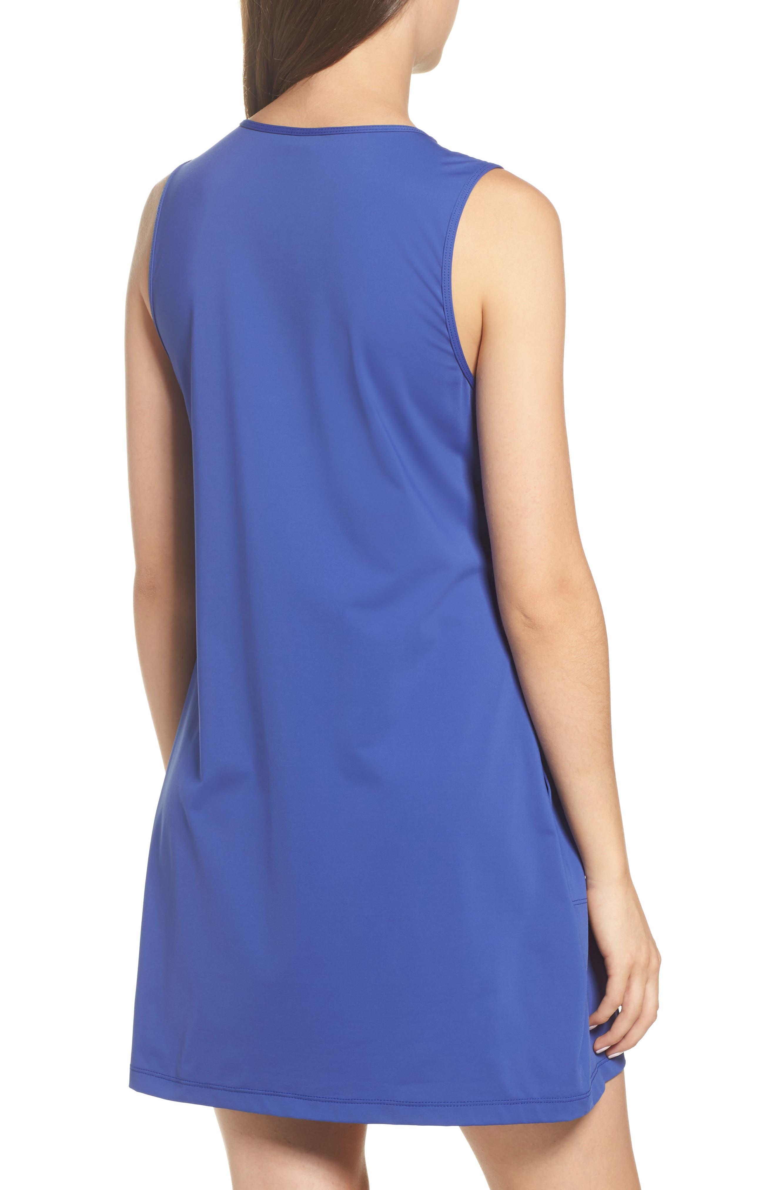 'Pearl' Split Neck Cover-Up Dress,                             Alternate thumbnail 2, color,                             400