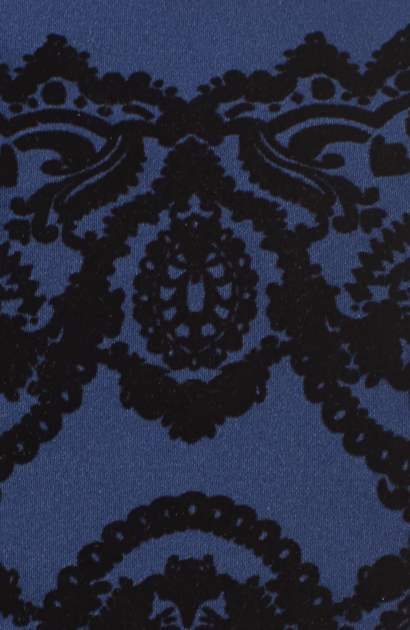 Scuba Fit & Flare Dress,                             Alternate thumbnail 5, color,                             410