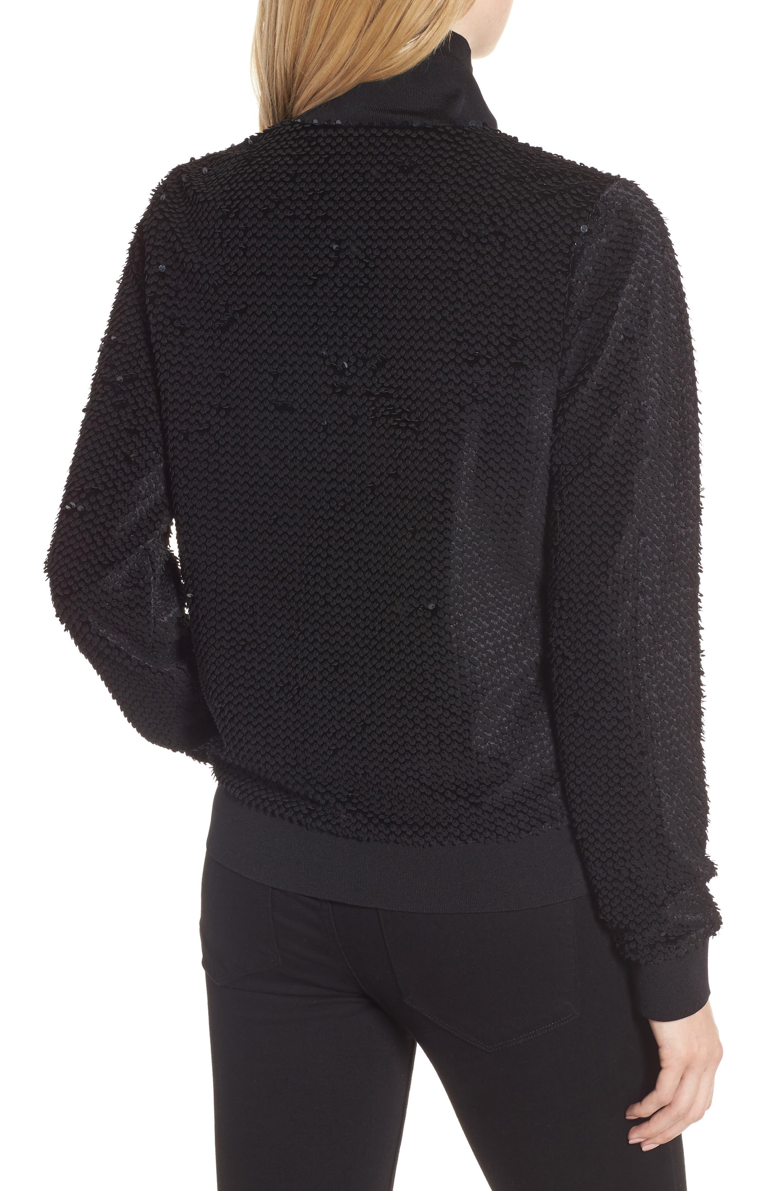 Sequin Velvet Track Jacket,                             Alternate thumbnail 2, color,