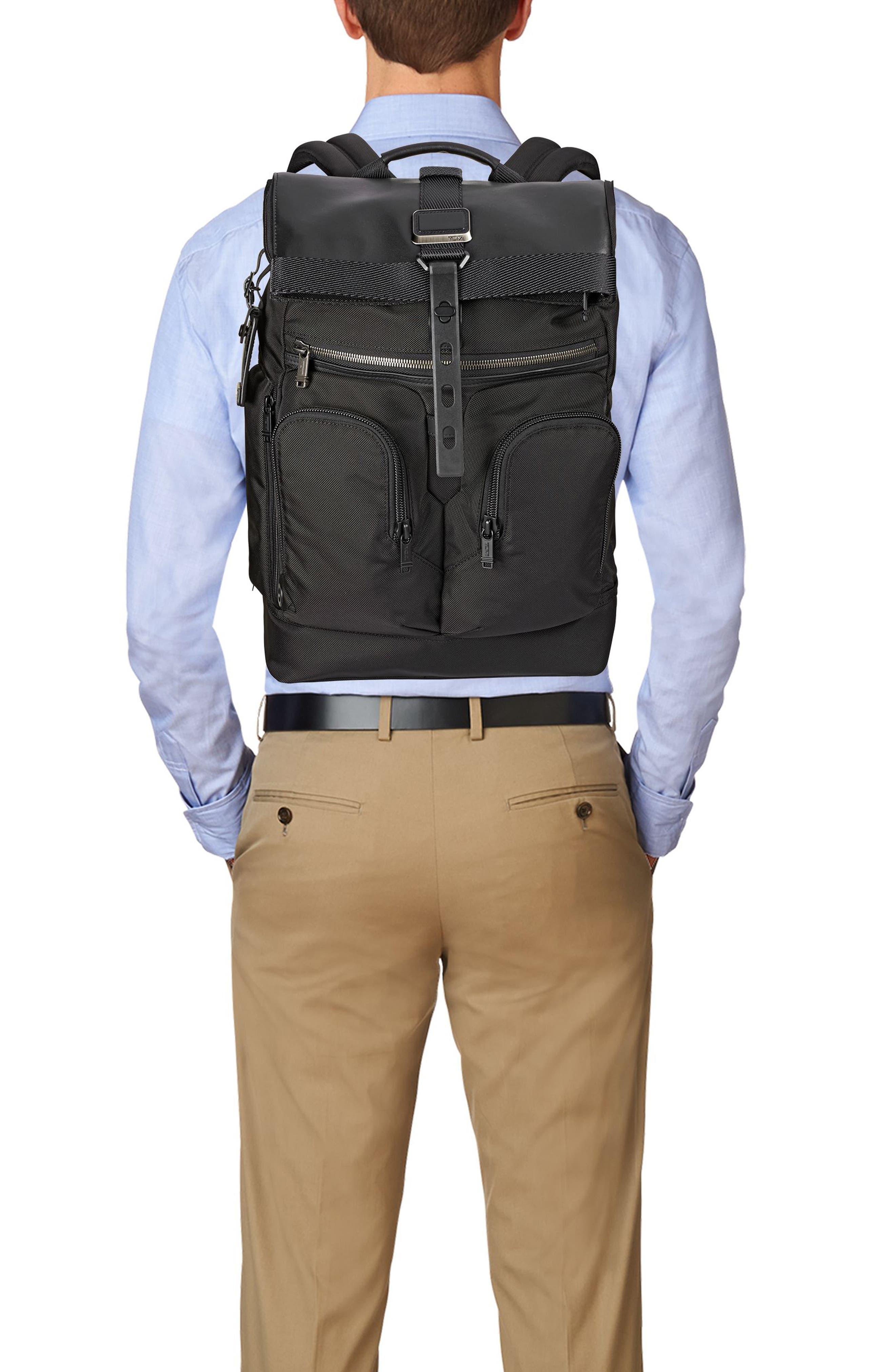 Alpha Bravo - London Backpack,                             Alternate thumbnail 6, color,                             BLACK