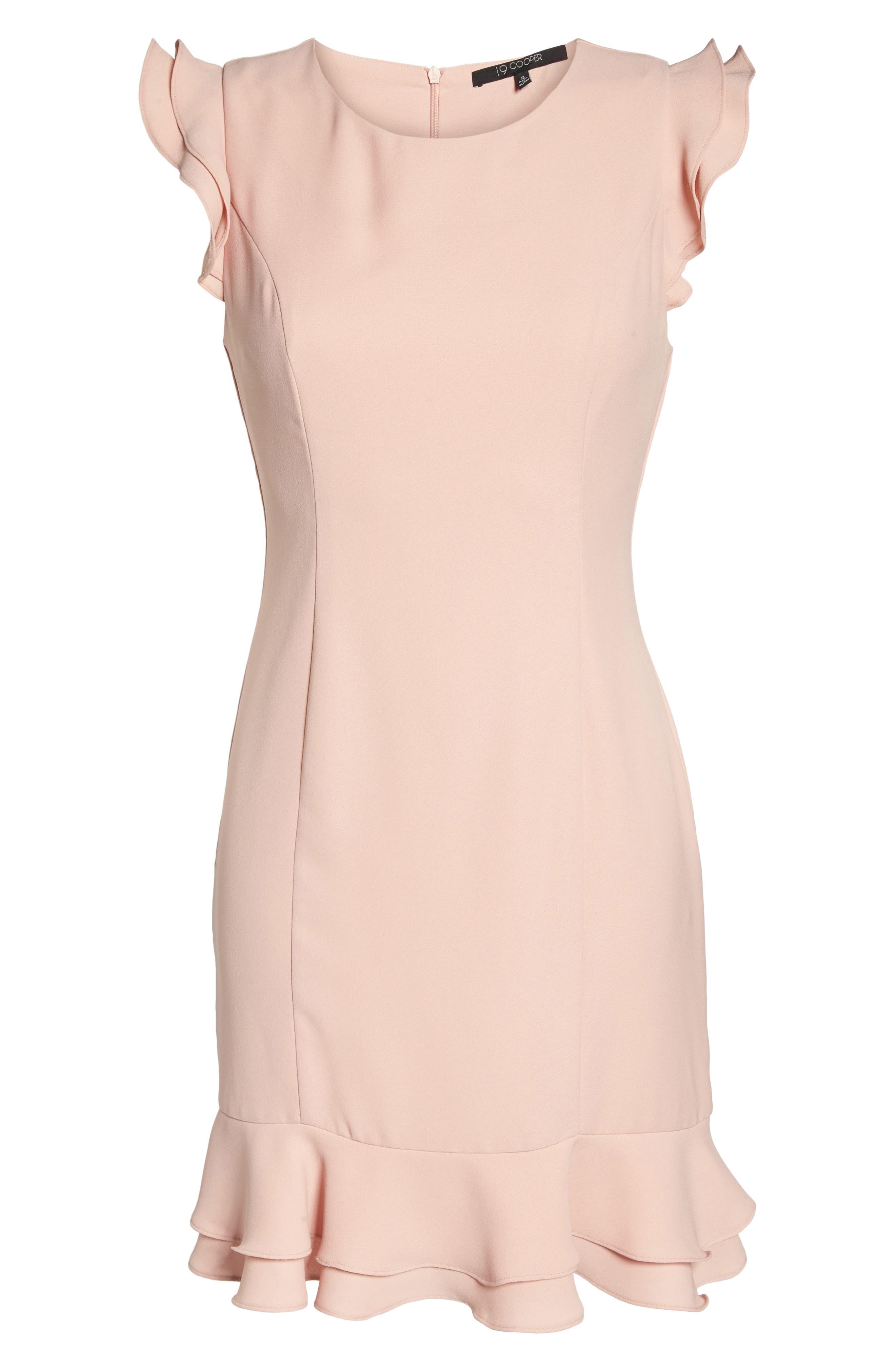 Ruffle Hem Sheath Dress,                             Alternate thumbnail 6, color,                             689