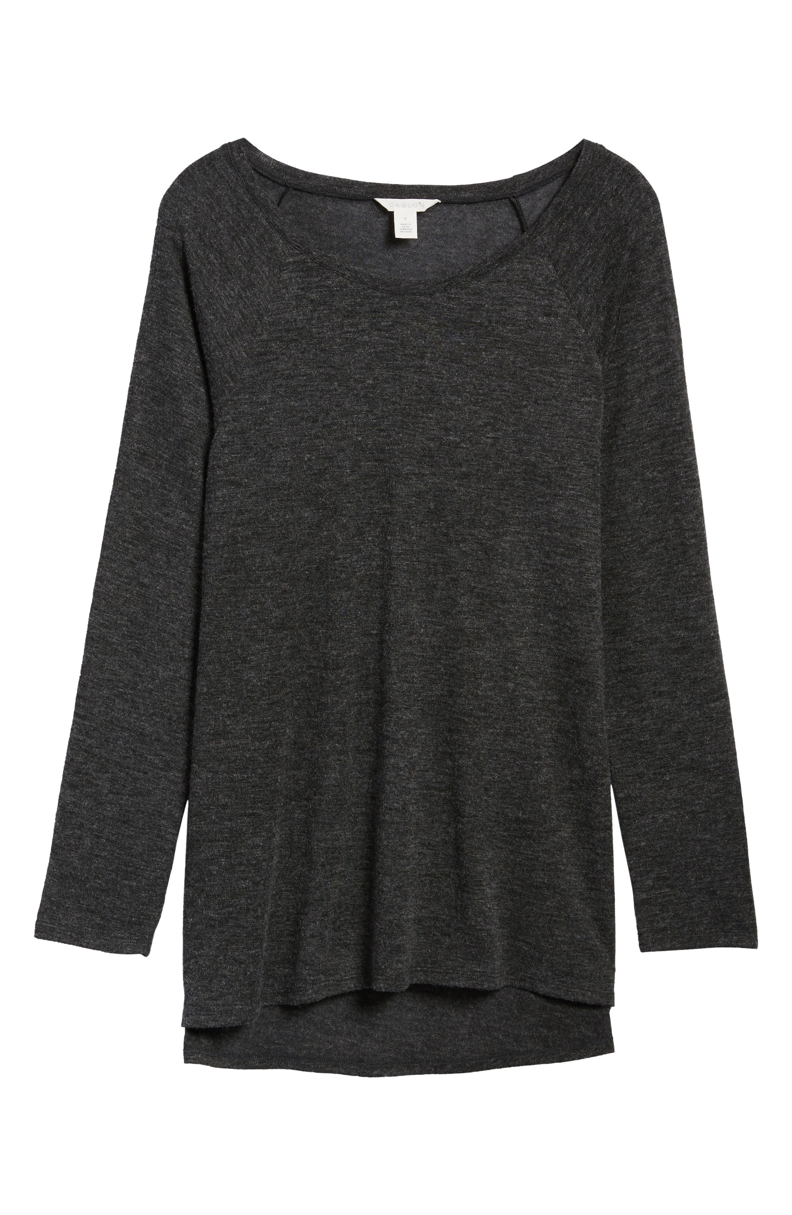 High/Low Tunic Sweatshirt,                             Alternate thumbnail 6, color,                             001