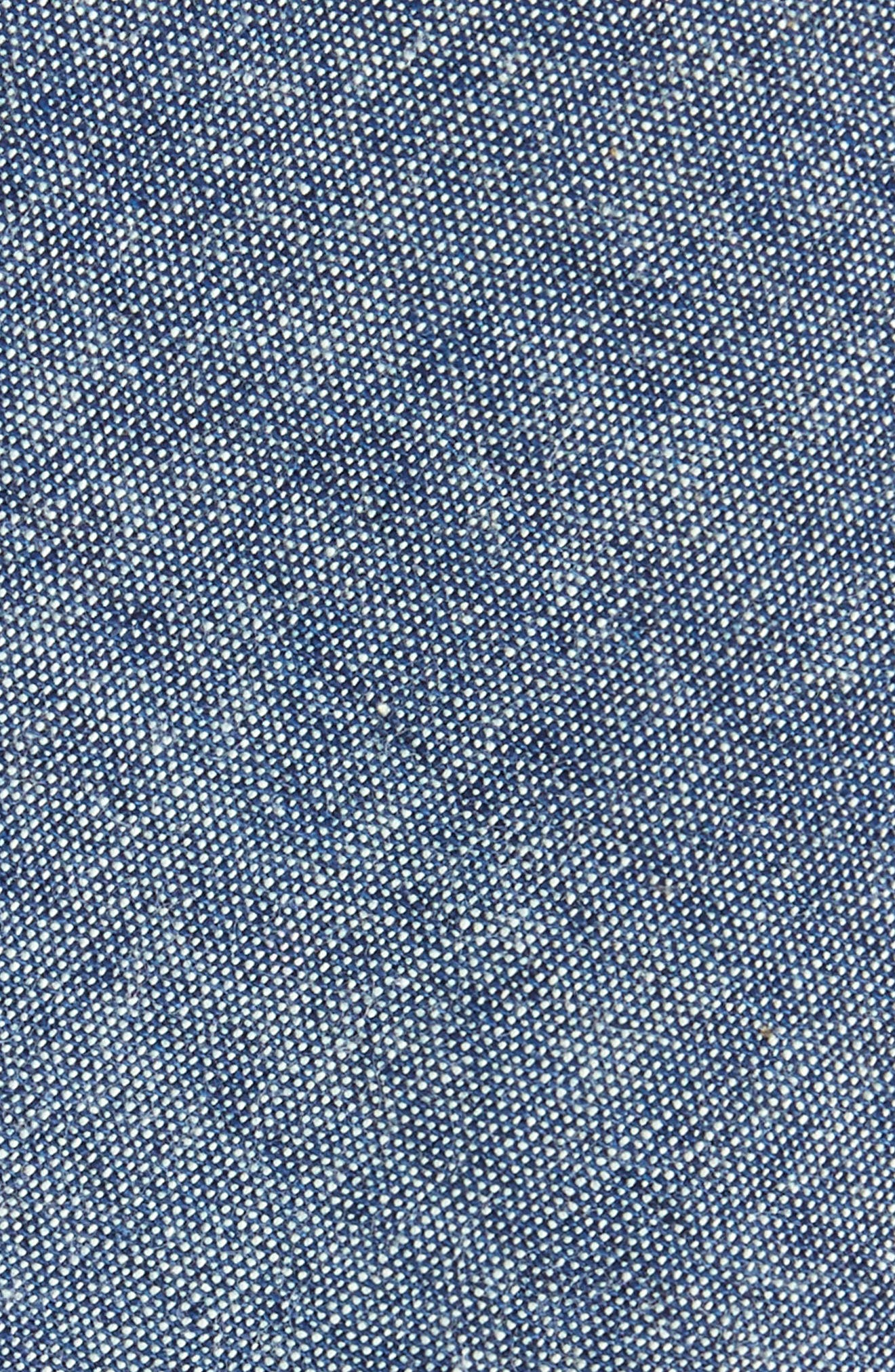 Marled Cotton Skinny Tie,                             Alternate thumbnail 2, color,