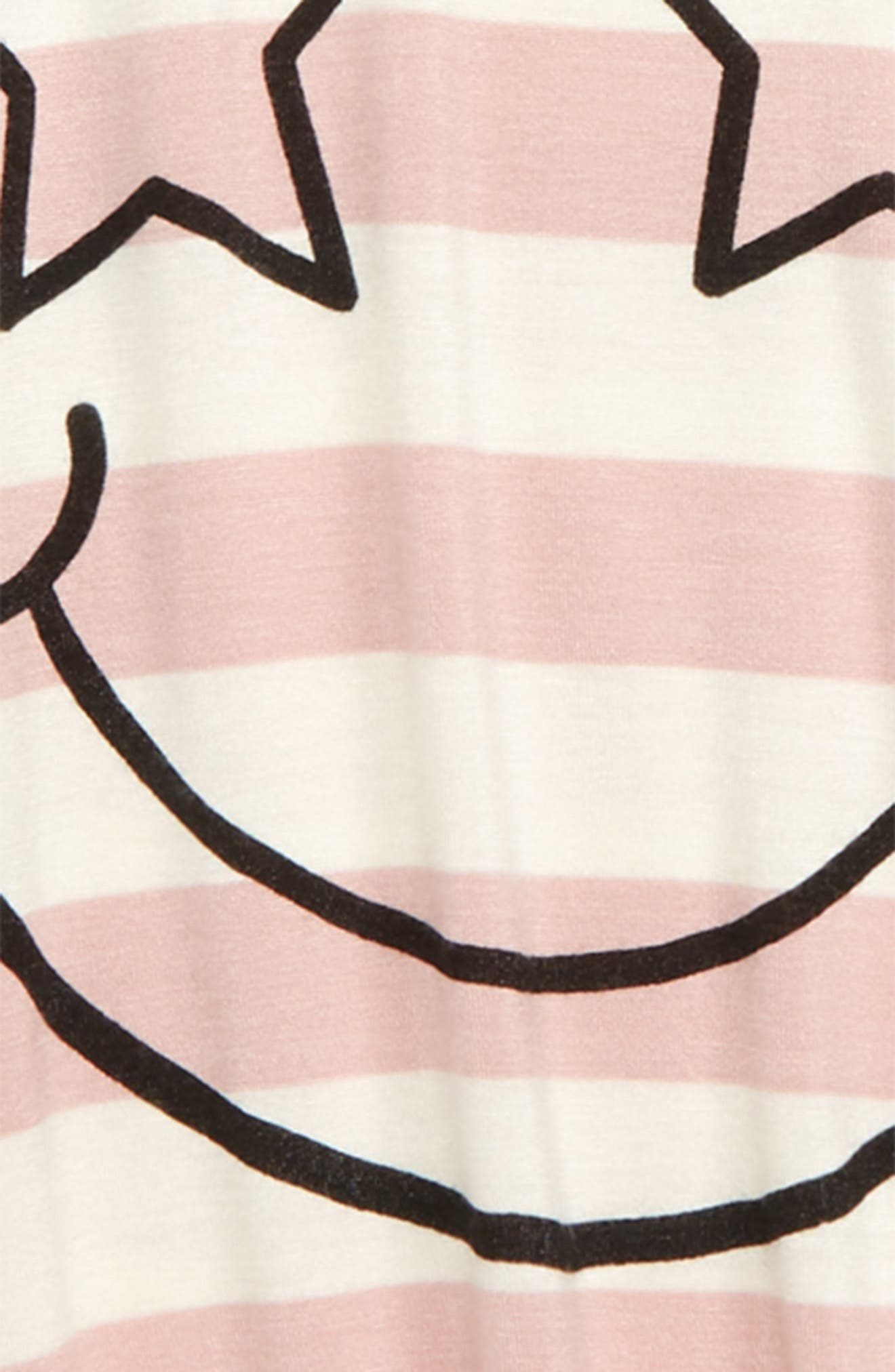 Smiley Star Tee,                             Alternate thumbnail 2, color,                             PINK PEACHSKIN SMILEY FACE