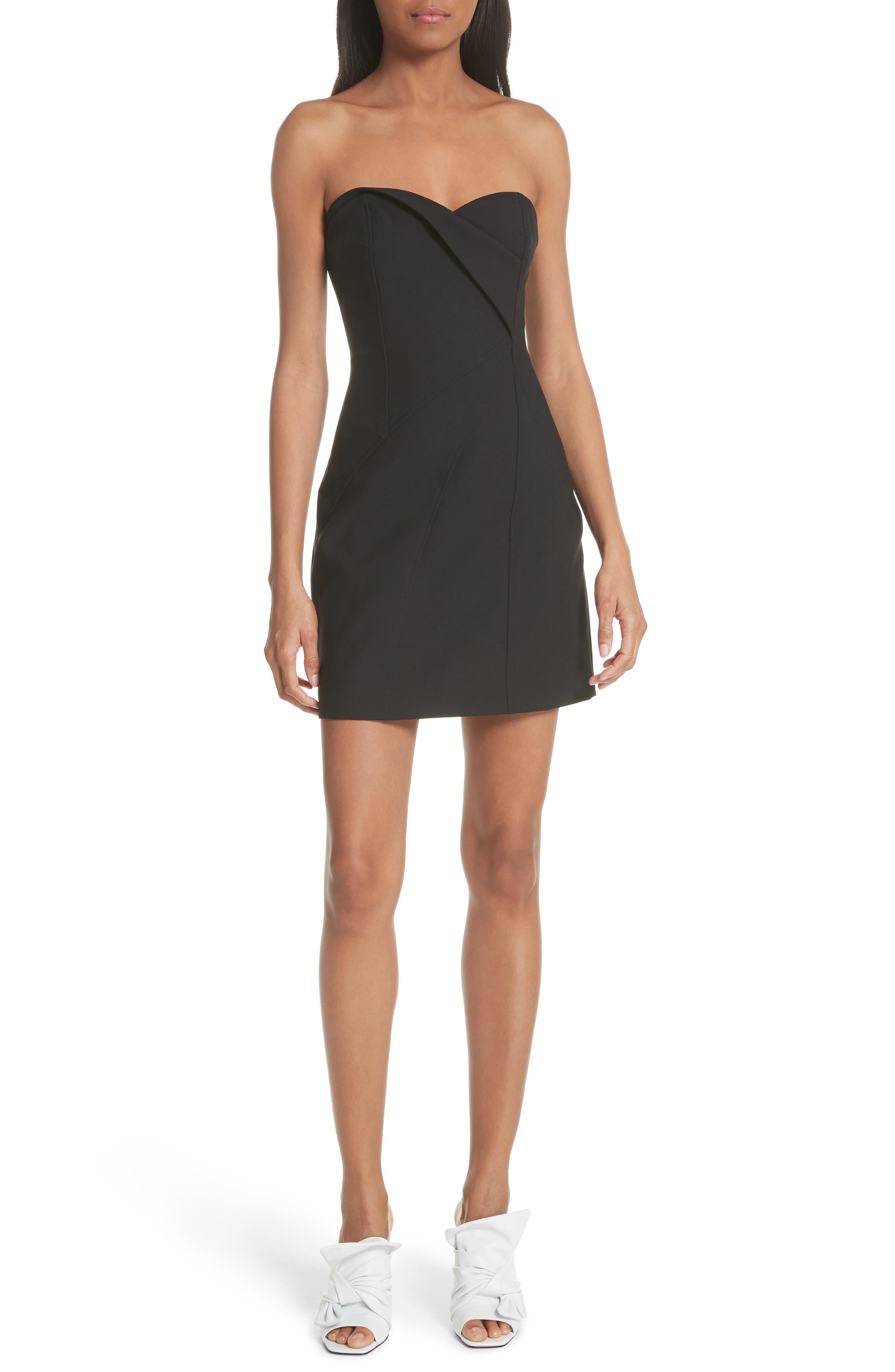 Tristen Strapless Dress,                         Main,                         color, 001