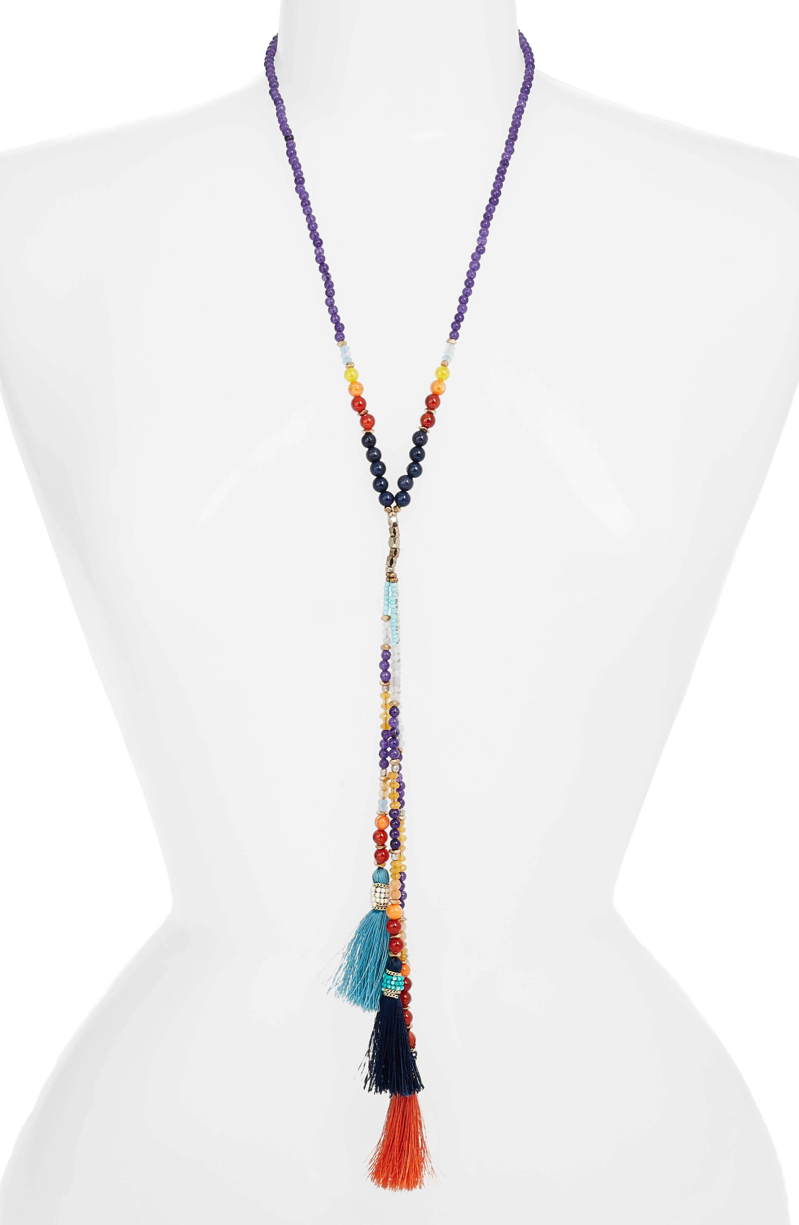 Tassel Y-Necklace,                             Alternate thumbnail 2, color,