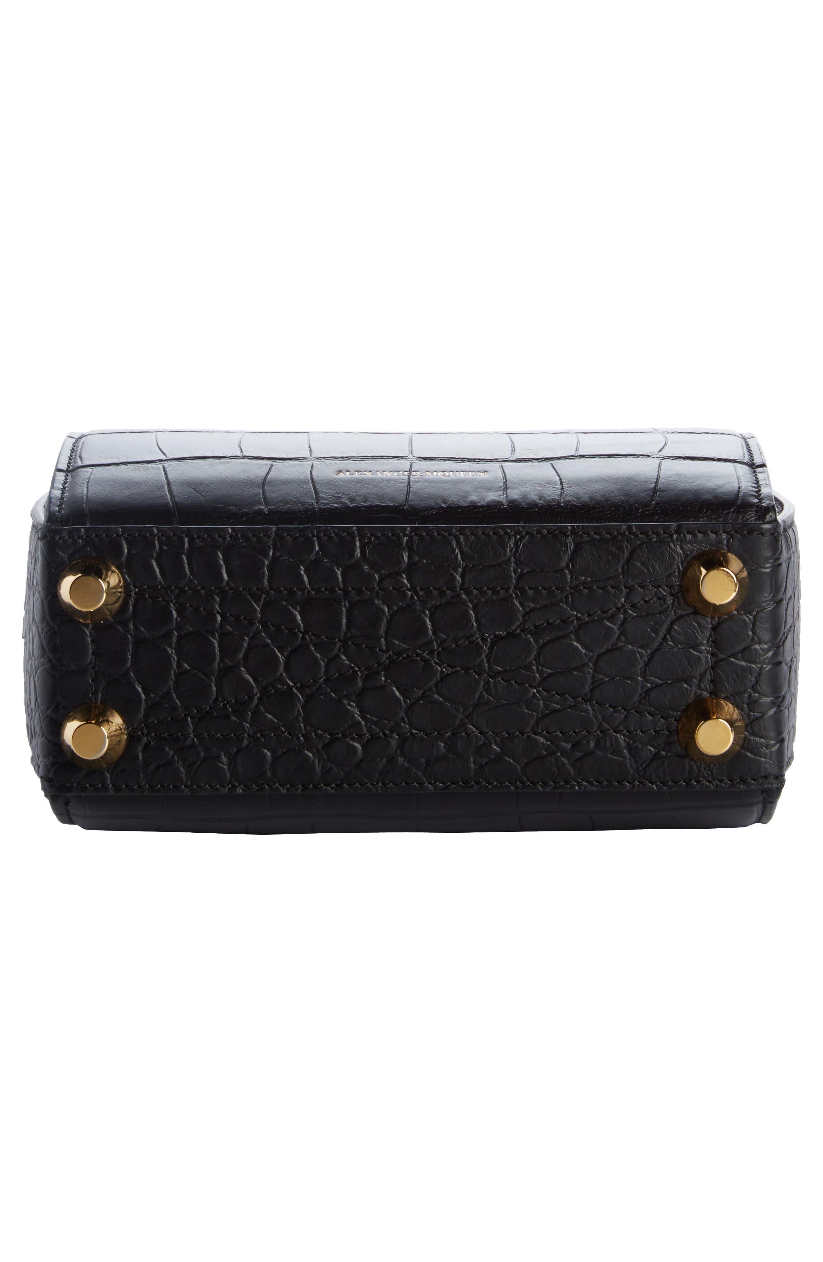 Box Bag 19 Croc Embossed Leather Bag,                             Alternate thumbnail 7, color,
