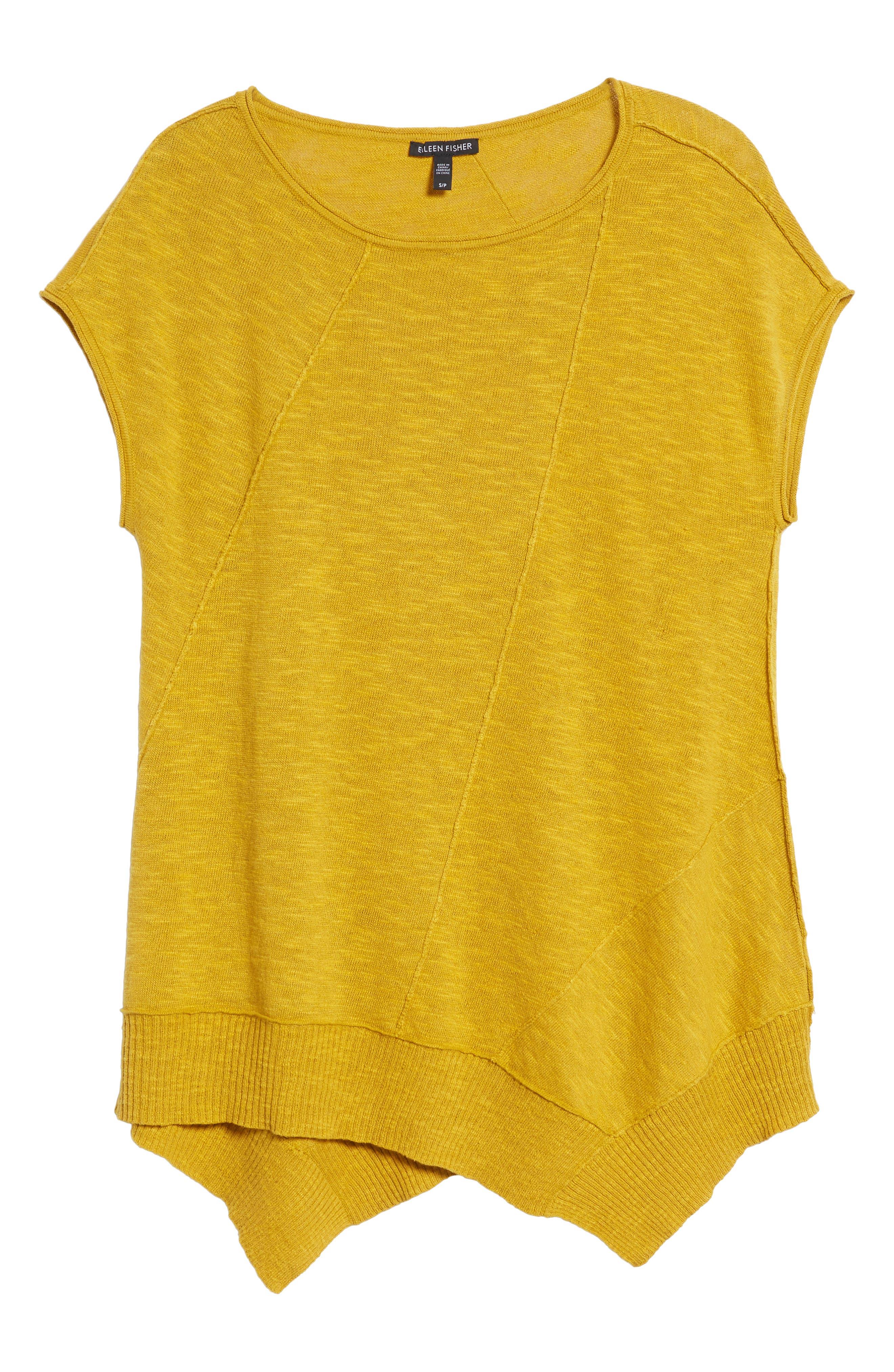 Cap Sleeve Organic Linen & Cotton Scoop Neck Top,                             Alternate thumbnail 79, color,