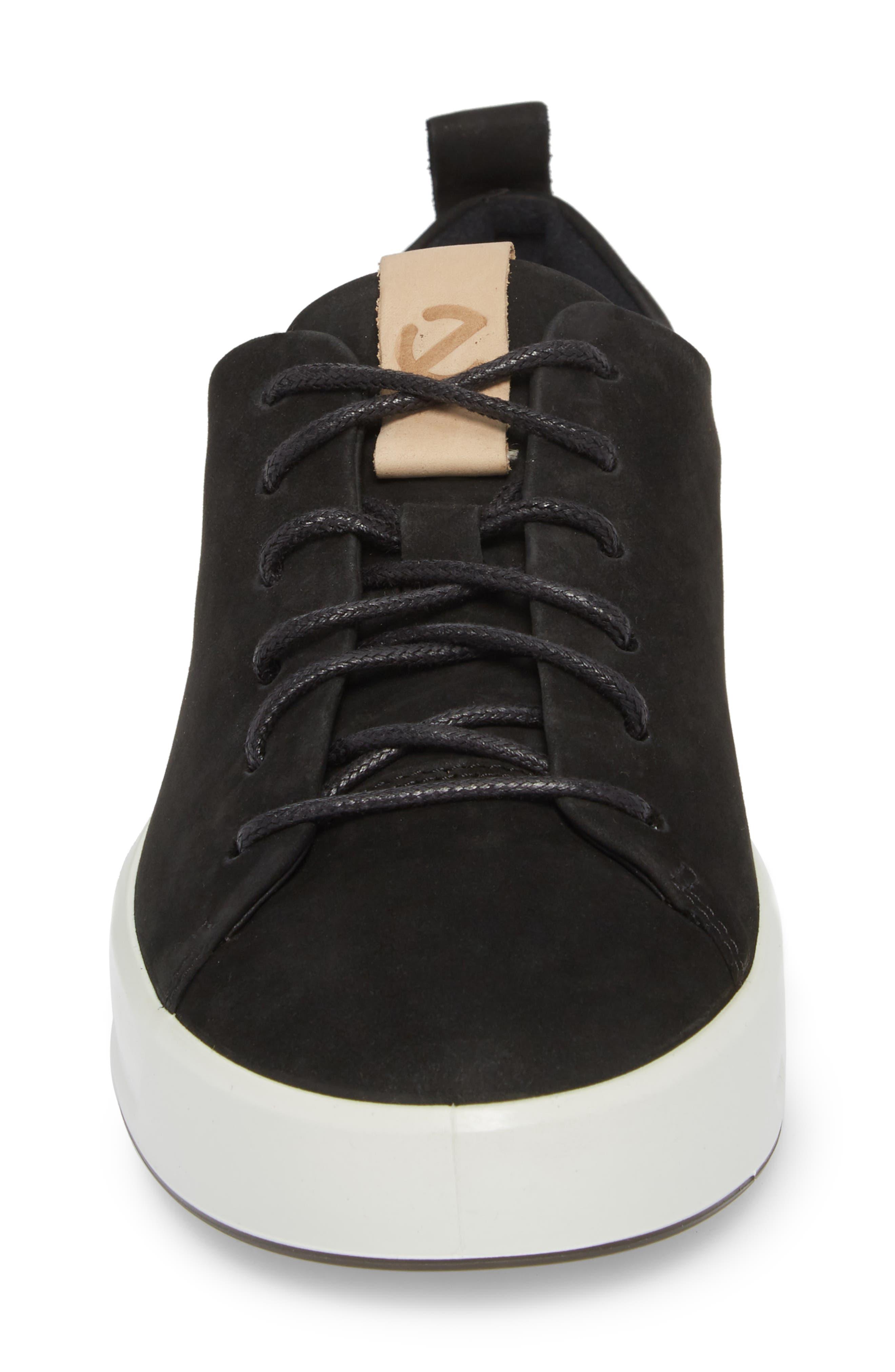 Soft 8 Sneaker,                             Alternate thumbnail 4, color,                             BLACK POWDER LEATHER