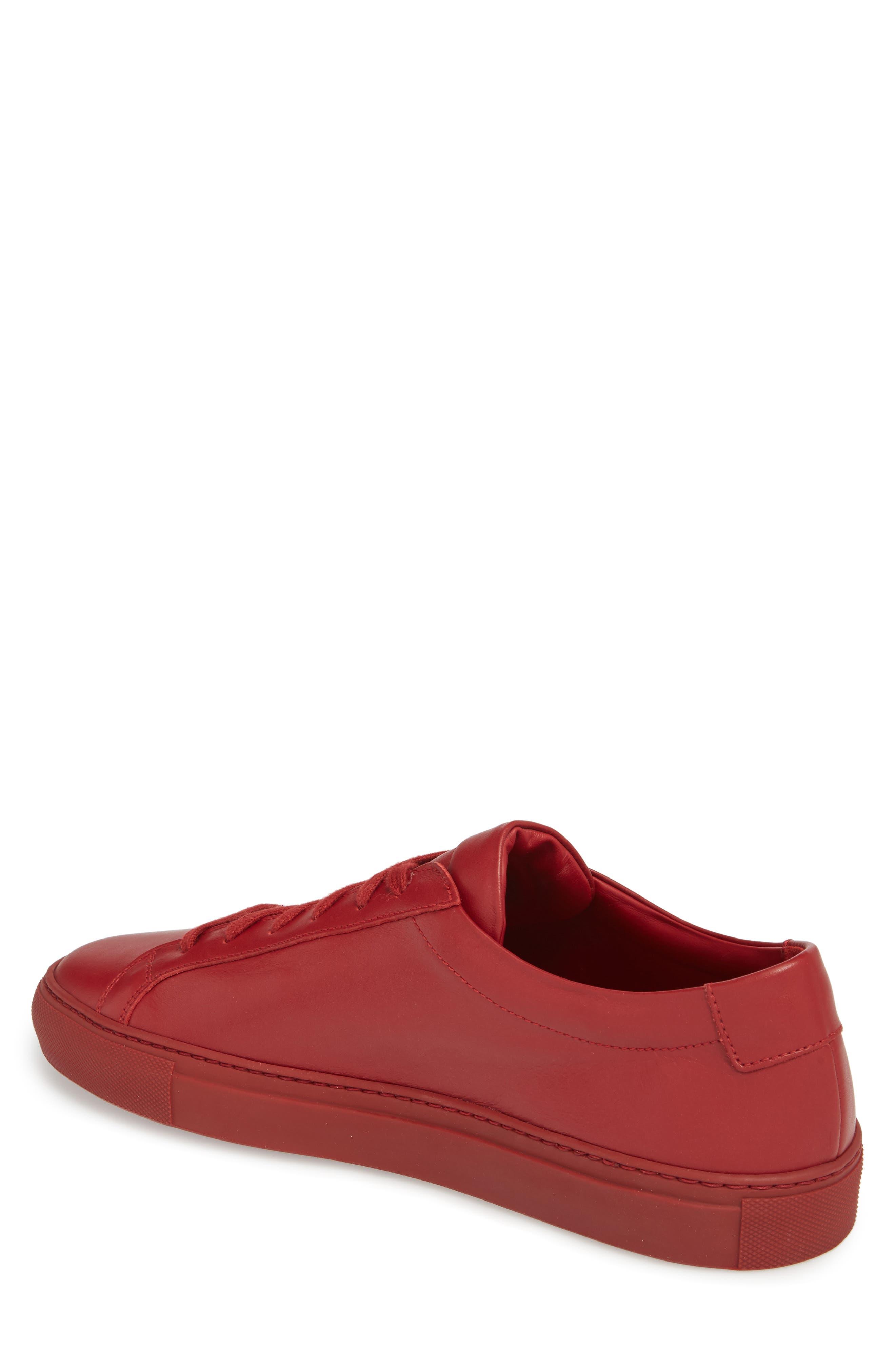 Original Achilles Sneaker,                             Alternate thumbnail 2, color,                             RED LEATHER