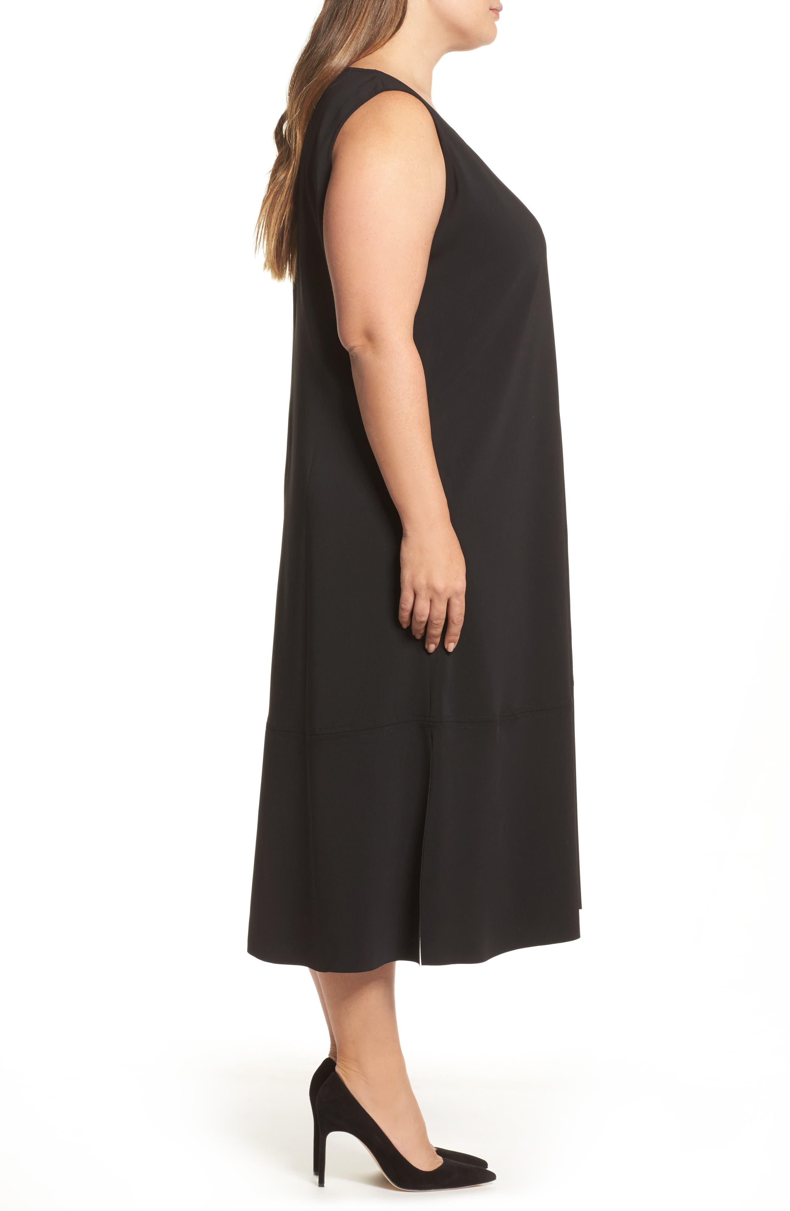 Donna Sleeveless Maxi Dress,                             Alternate thumbnail 3, color,                             001