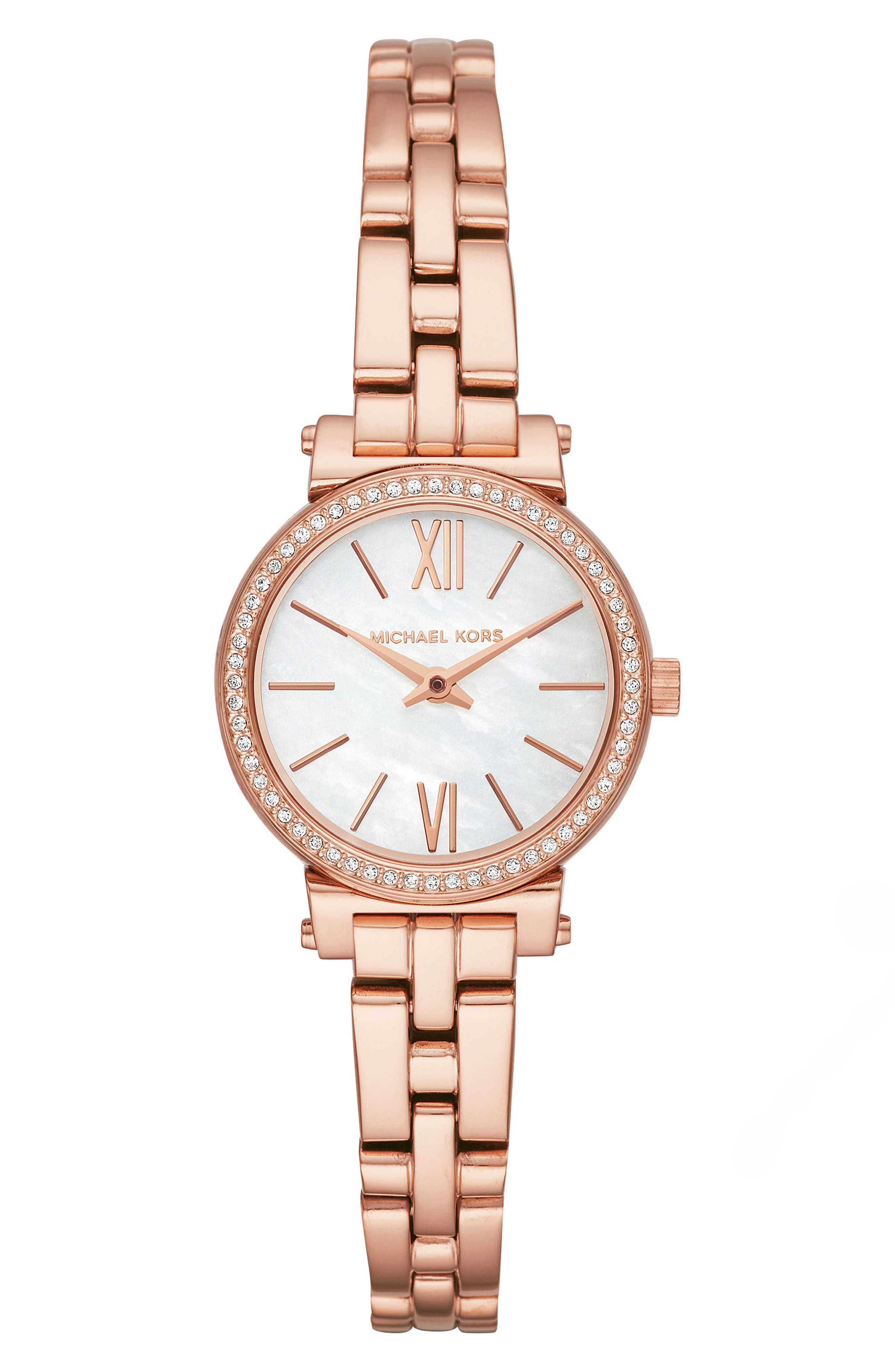 Sofie Bracelet Watch, 26mm,                             Main thumbnail 1, color,                             ROSE GOLD/ MOP/ ROSE GOLD