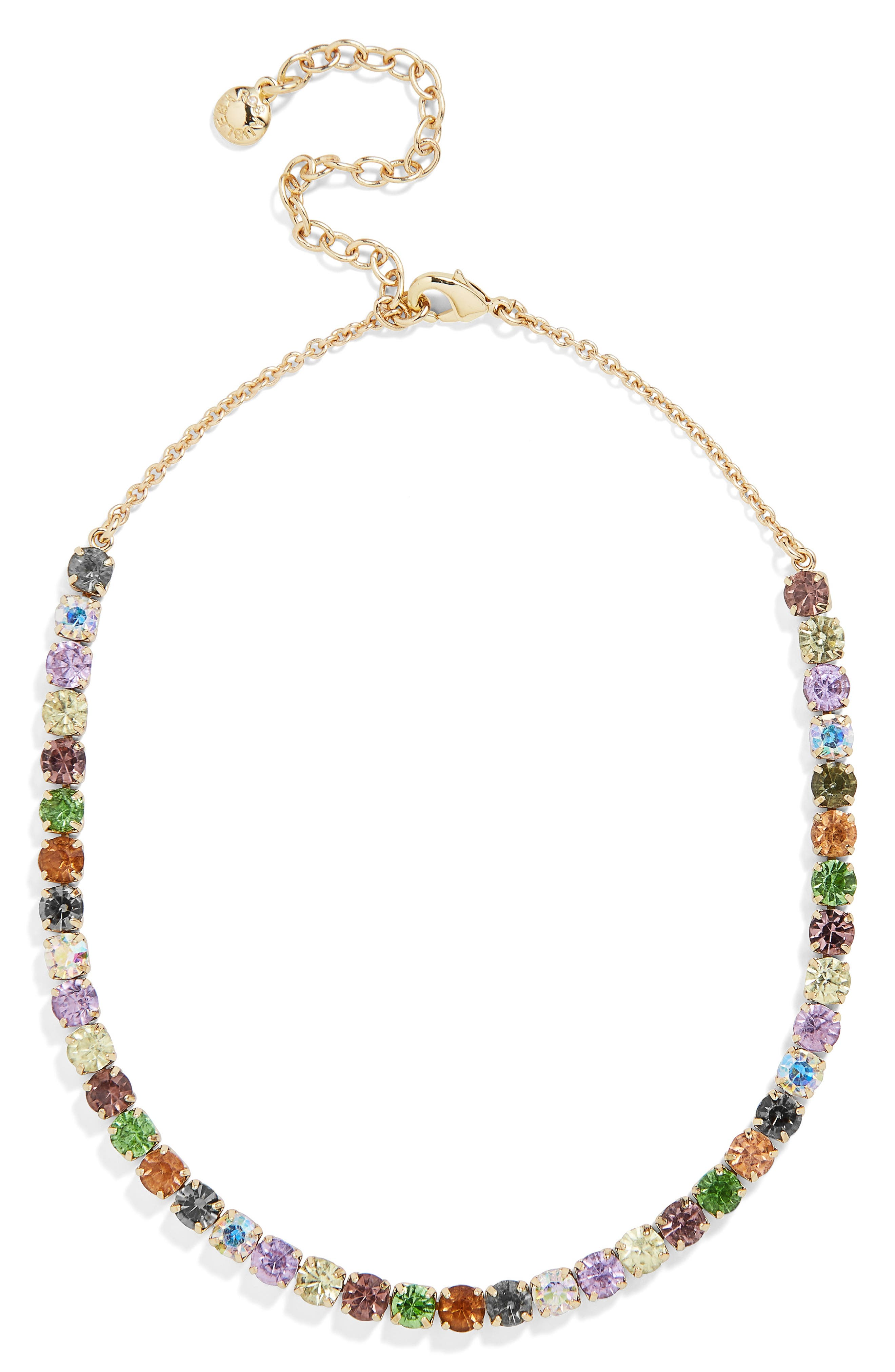 x Micaela Erlanger Walk in the Park Choker Necklace,                         Main,                         color, GREY MULTI/ GOLD