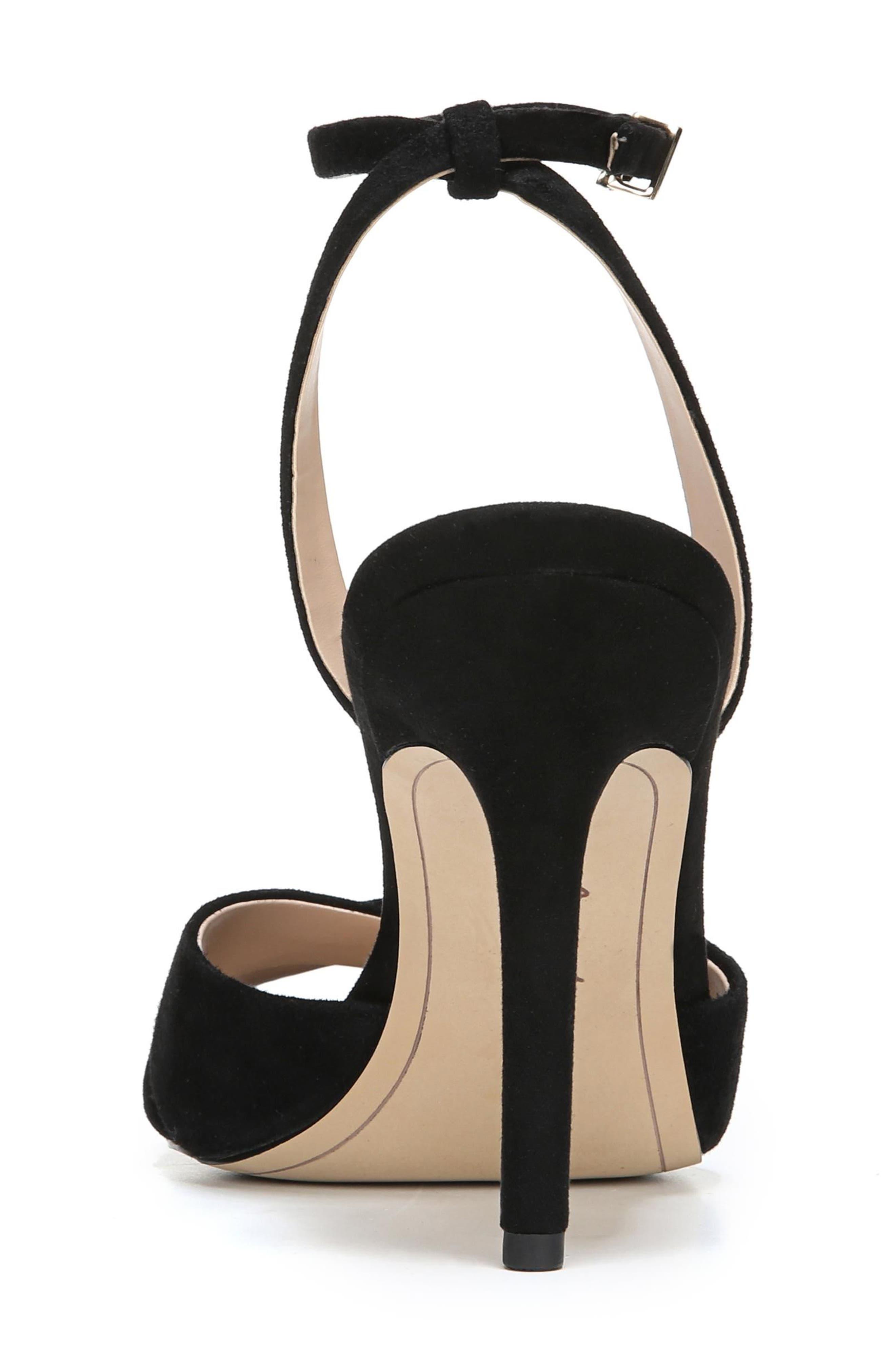 Aly Ankle Strap Sandal,                             Alternate thumbnail 7, color,                             001