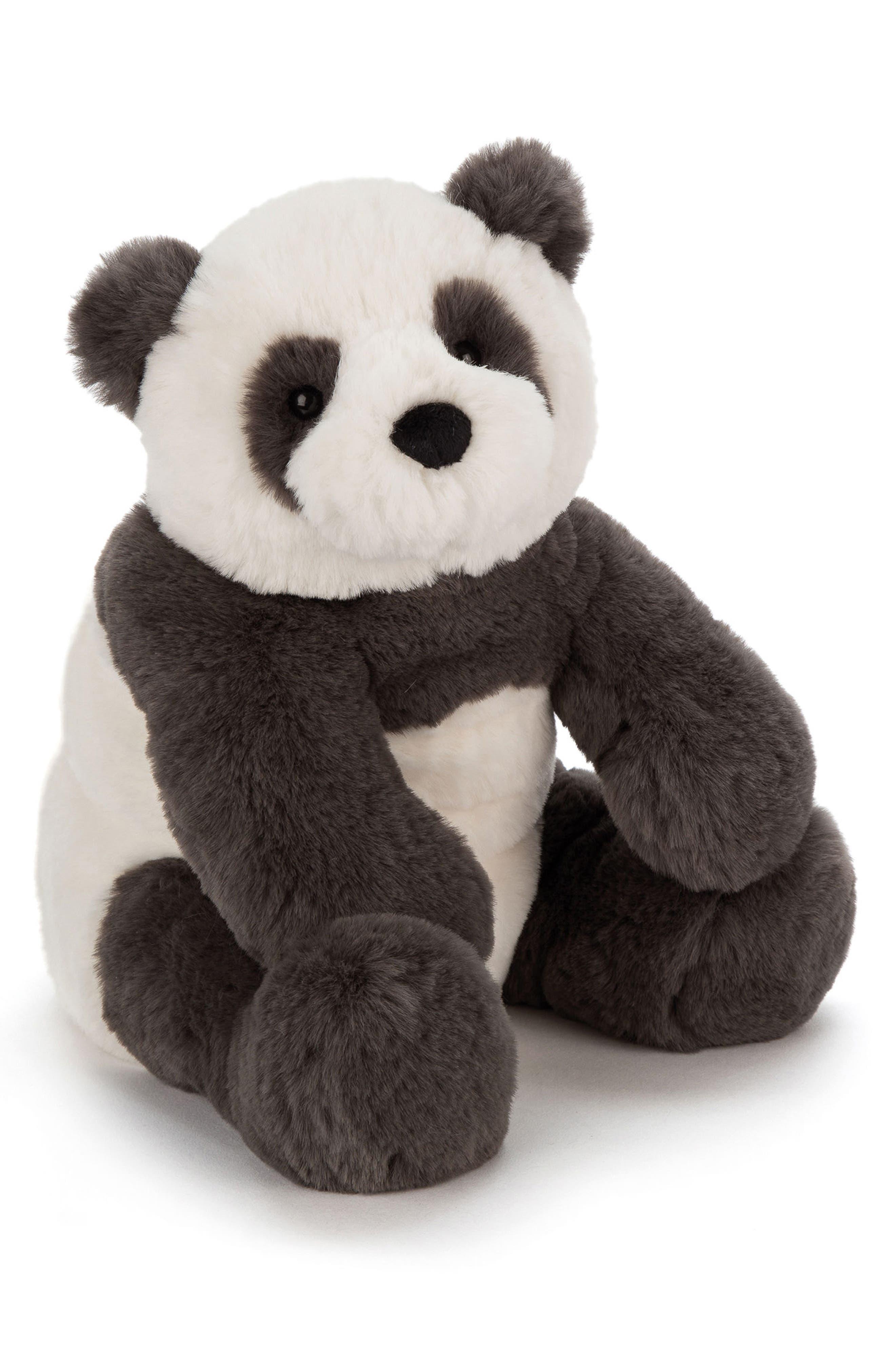 Large Harry Panda Stuffed Animal,                         Main,                         color, BLACK / CREAM